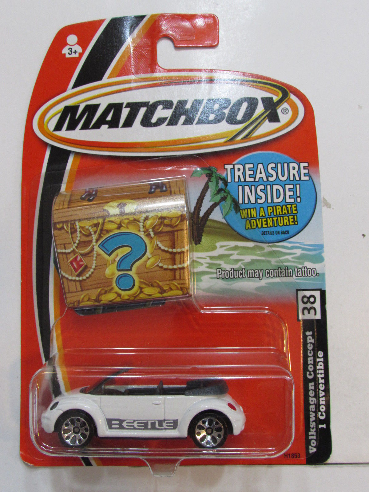 MATCHBOX 2004 TREASURE INSIDE VOLKSWAGEN CONCEPT 1 CONVERTIBLE #38