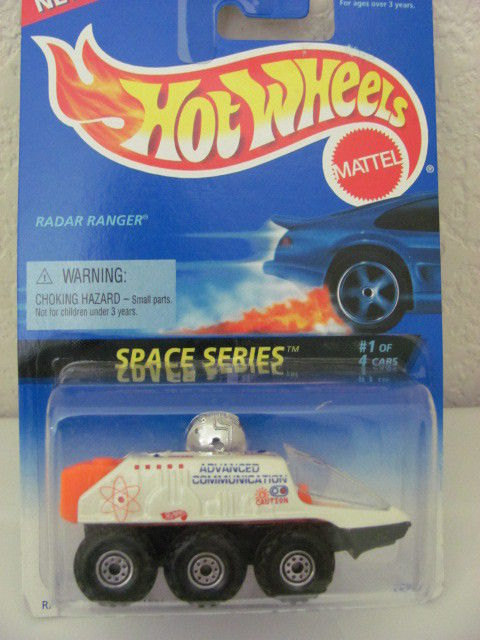 HOT WHEELS 1995 SPACE SERIES RADAR RANGER #1/4 WHITE