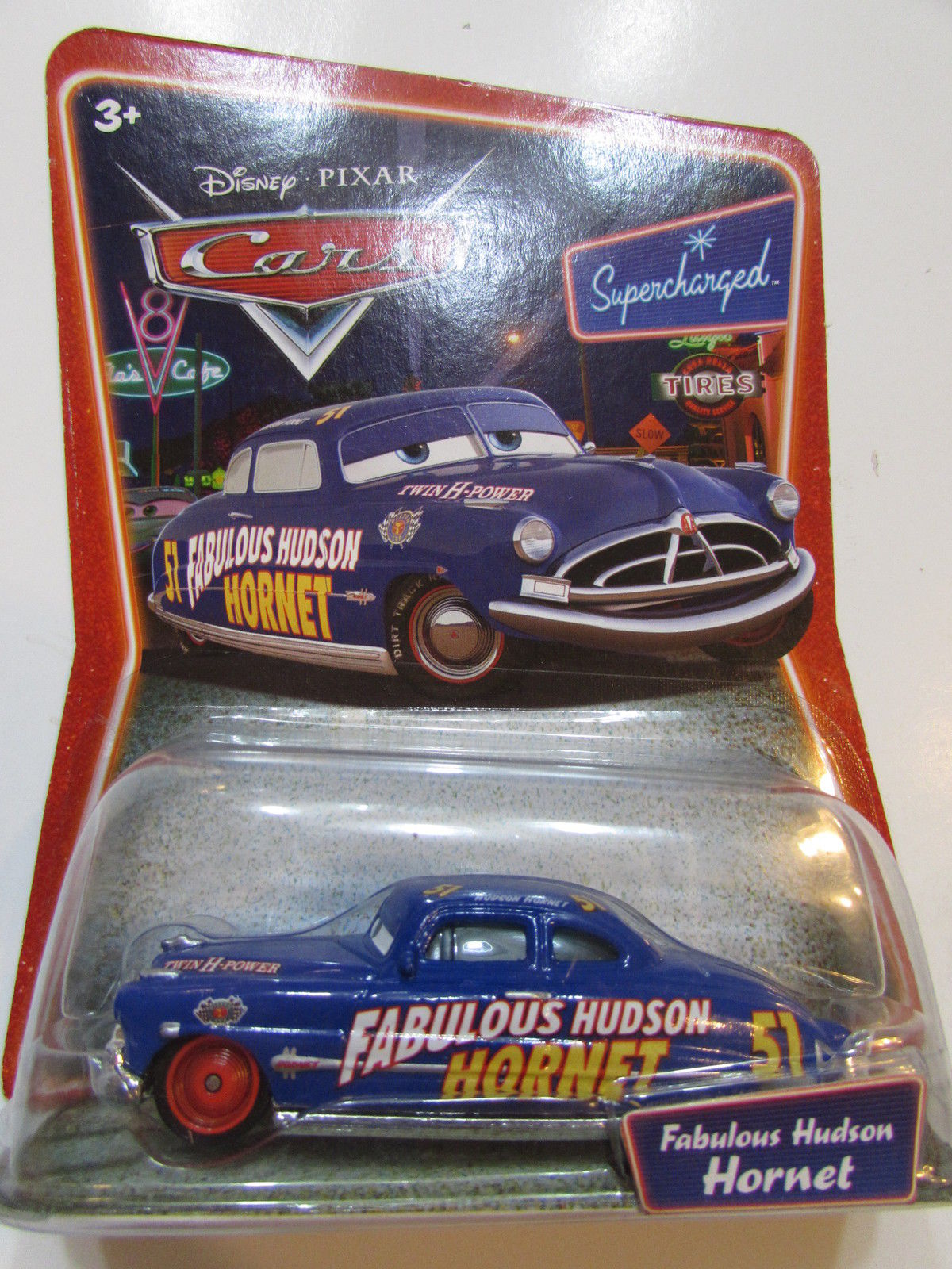 DISNEY PIXAR CARS SUPERCHARGED - FABULOUS HUDSON HORNET