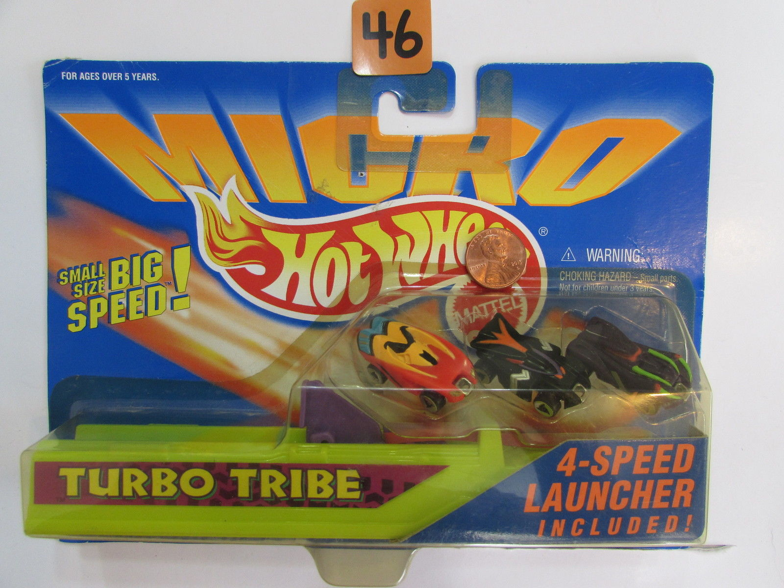 HOT WHEELS 1995 MICRO SIZE - TURBO TRIBE W/ 4 - SPEED LAUNCHER