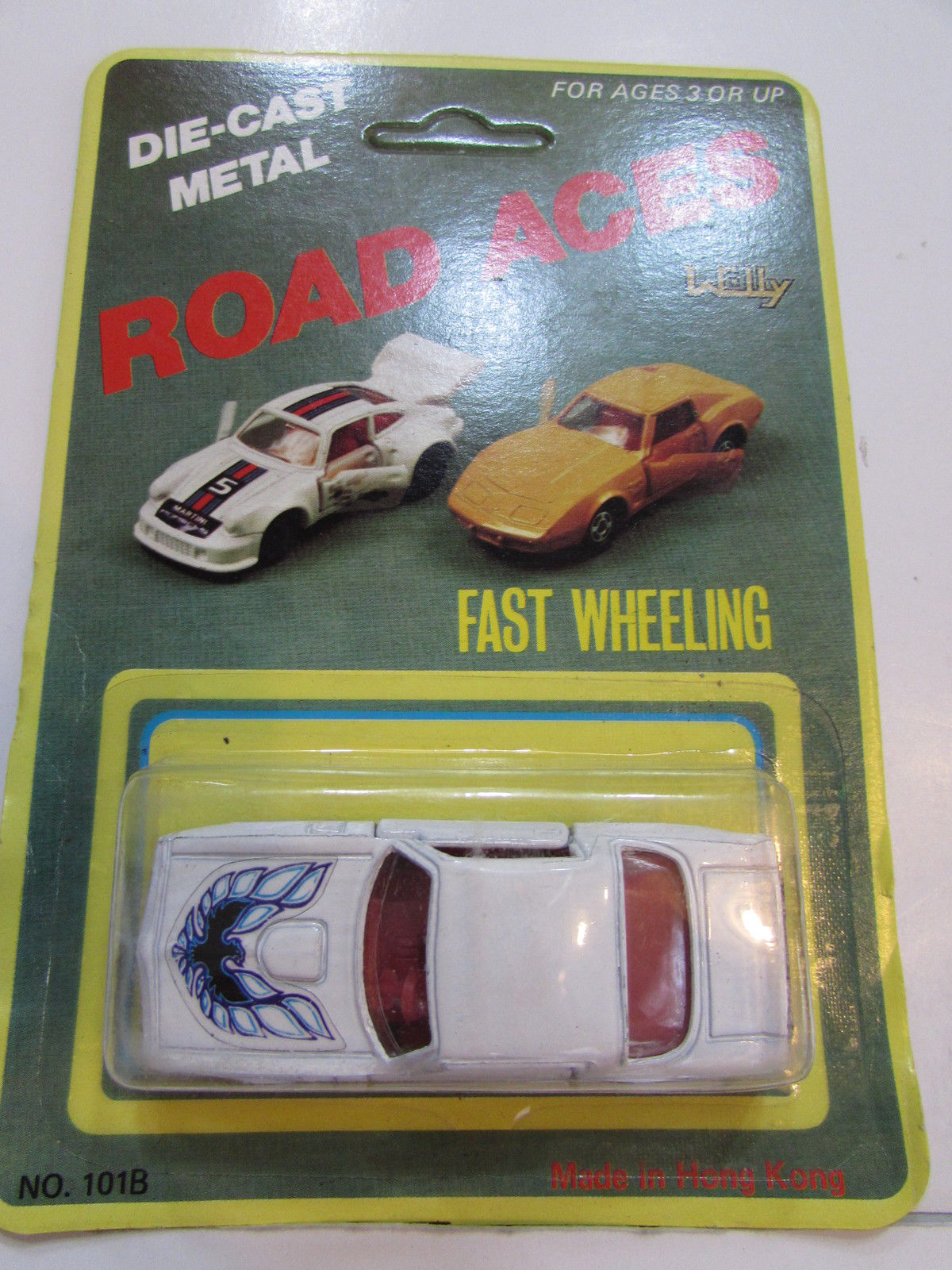 ROAD ACES FAST WHEELING - HOT BIRD TRANS AM WHITE MADE IN HONG KONG