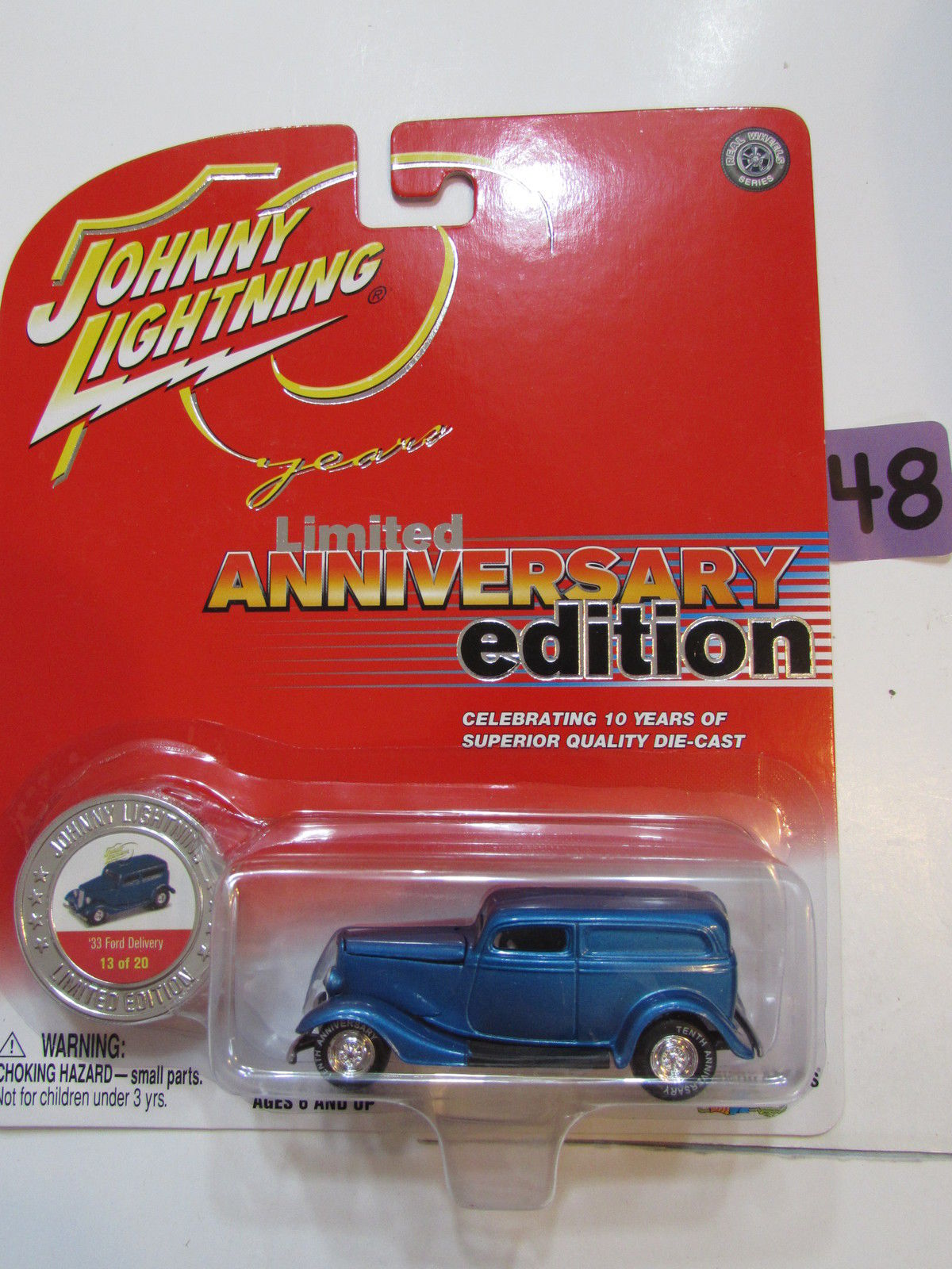 JOHNNY LIGHTNING LIMITED ANNIVERSARY EDITION '33 FORD DELIVERY 13/20