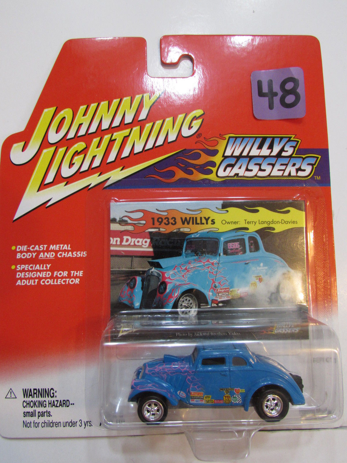JOHNNY LIGHTNING 2001 WILLYS GASSERS 1933 WILLY'S BLUE