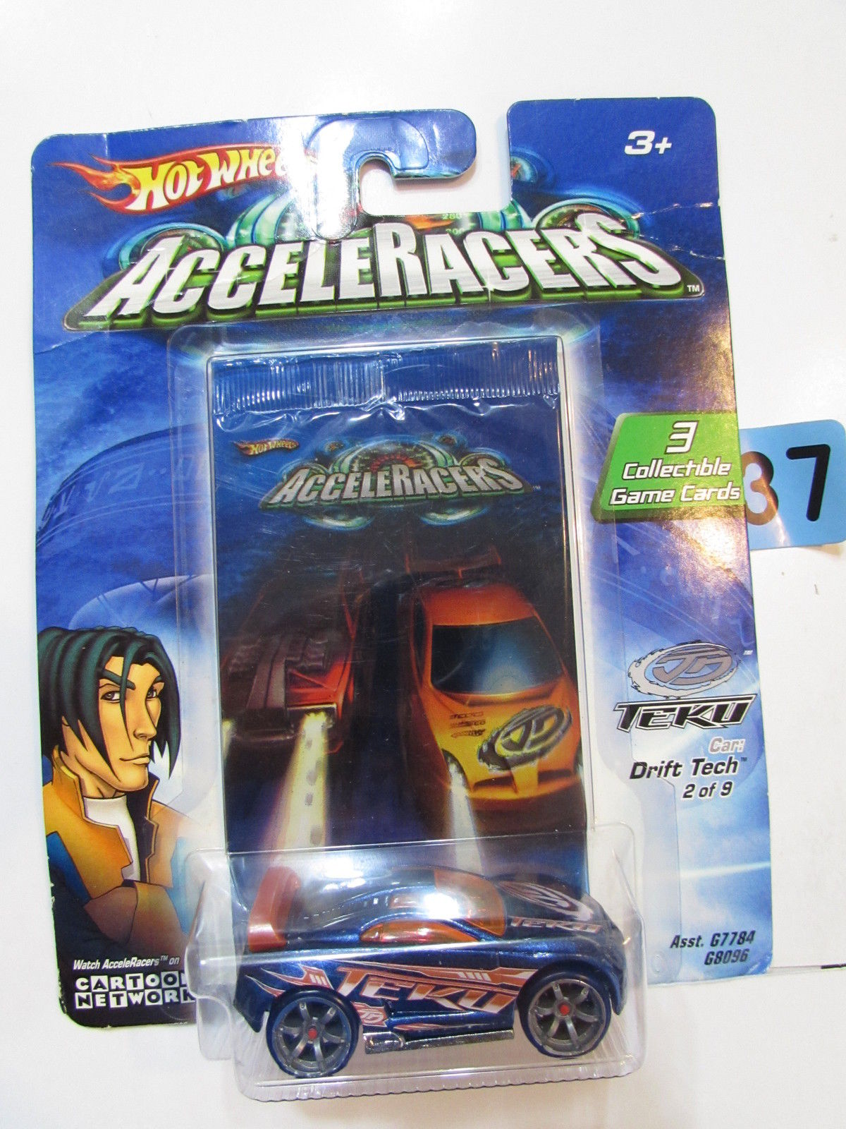 2004 HOT WHEELS ACCELERACERS DRIFT TECH #2/9 - 3 COLLECTIBLE GAME CARDS