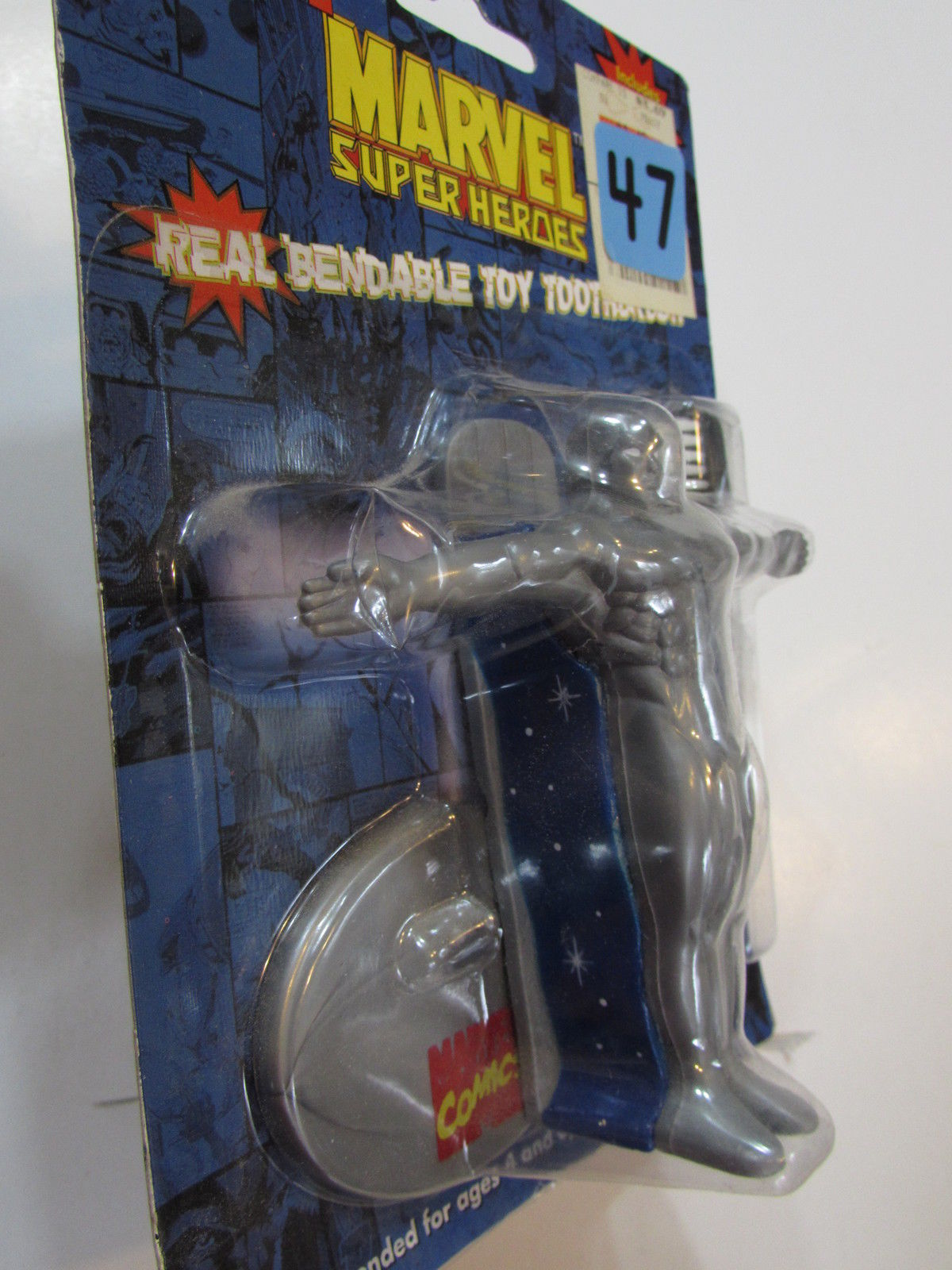 MARVEL 1997 SUPER HEROES THE SILVER SURFER W/ TOY TOOTHBRUSH