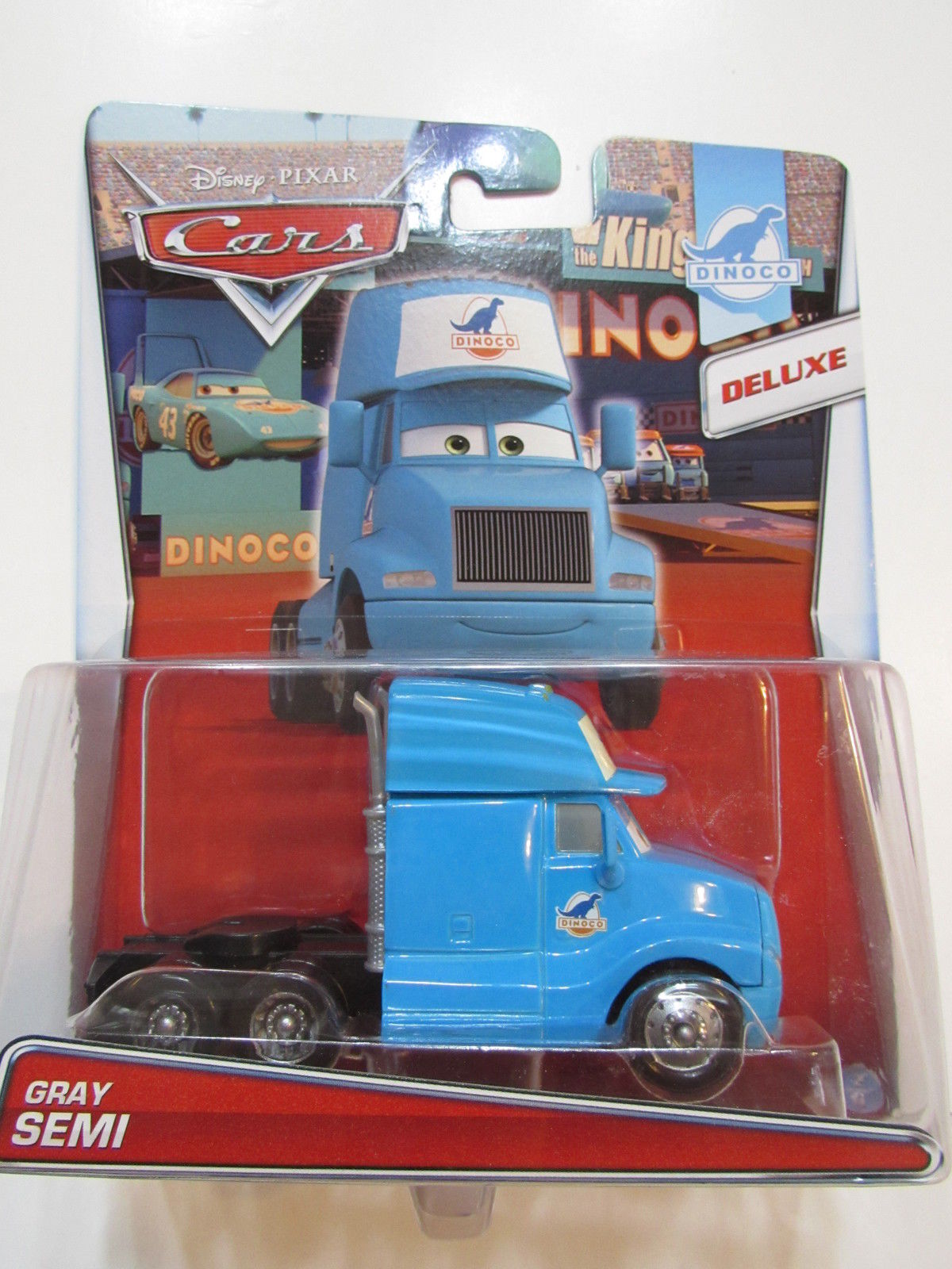 DISNEY PIXAR CAR DINOCO DELUXE - GRAY SEMI