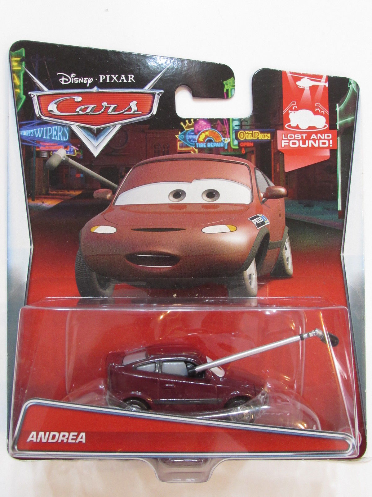 DISNEY PIXAR CARS LOST AND FOUND ANDREA