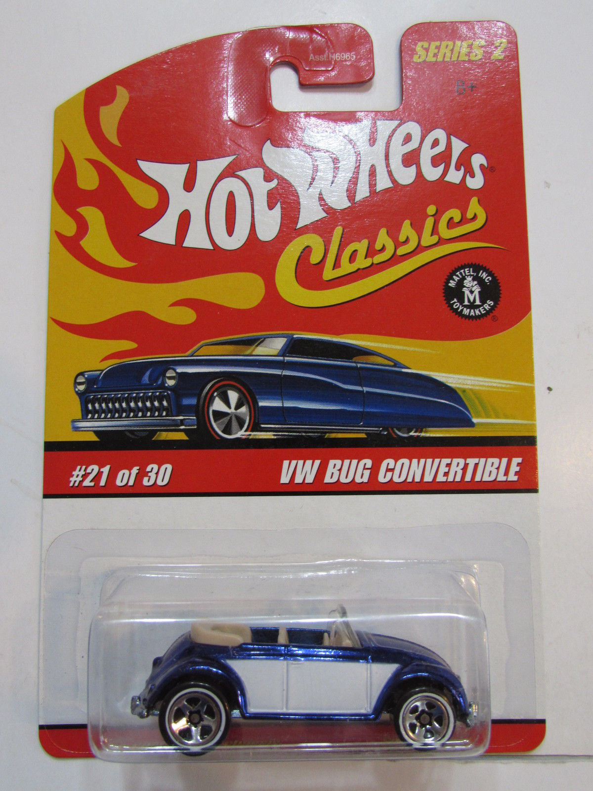 HOT WHEELS CLASSICS SERIES 2 #21/30 VW BUG CONVERTIBLE BLUE
