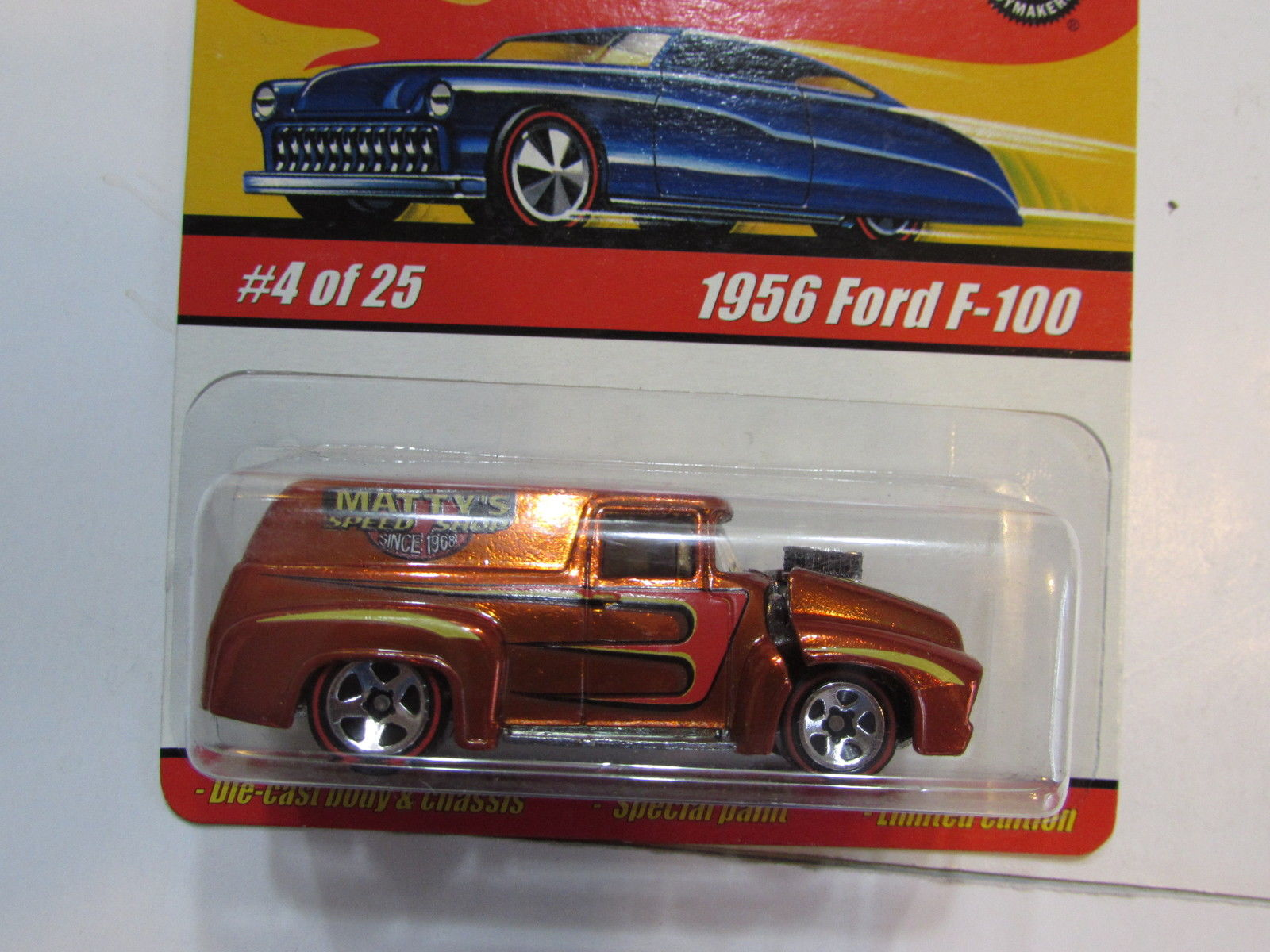 HOT WHEELS CLASSICS SERIES 1 #04/25 1956 FORD F-100 ORANGE