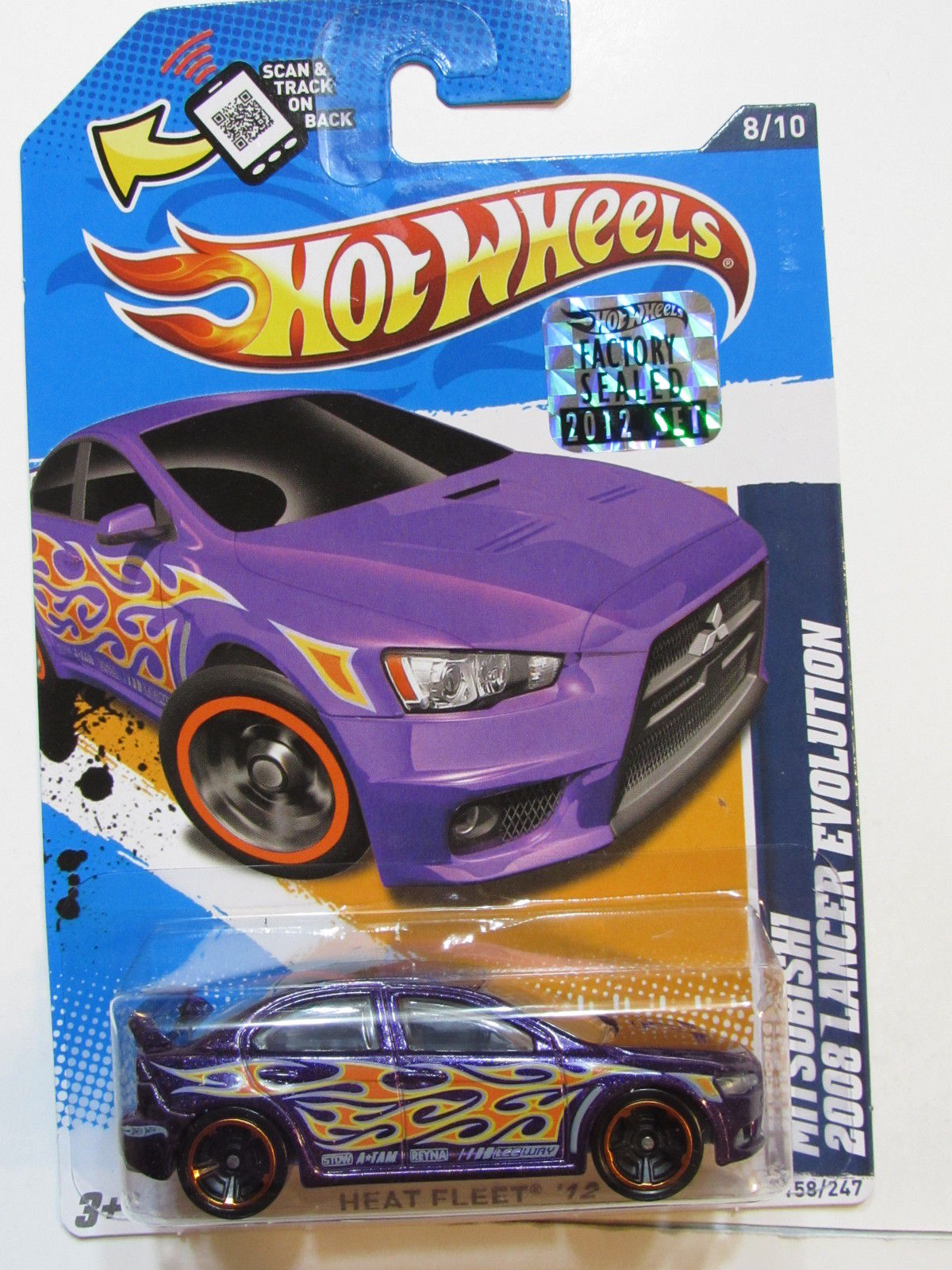 HOT WHEELS 2012 MITSUBISHI 2008 LANCER EVOLUTION PURPLE FACTORY SEALED