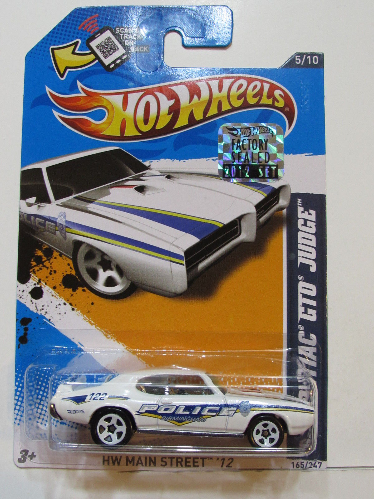 HOT WHEELS 2012 HW MAIN STREET 69 PONTIAC GTO JUDGE WHITE FACTORY SEALED