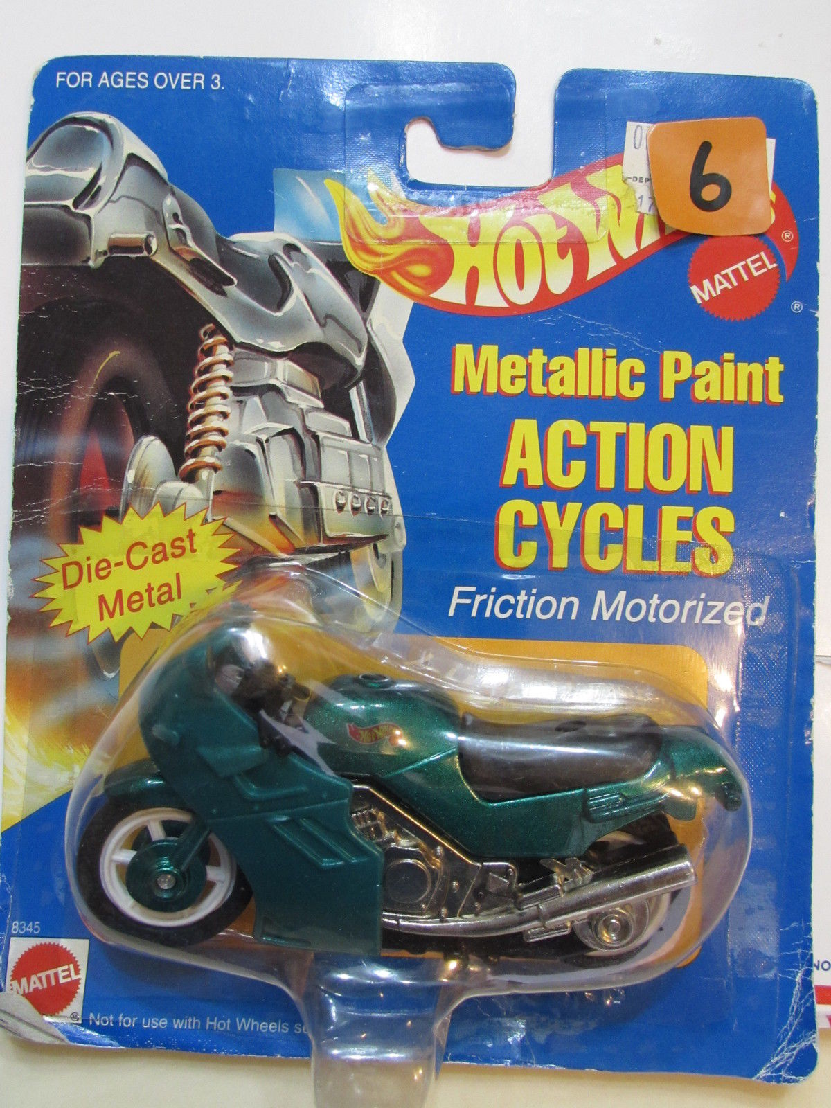 HOT WHEELS 1995 METALLIC PAINT ACTION CYCLES - FRICTION MOTORIZED