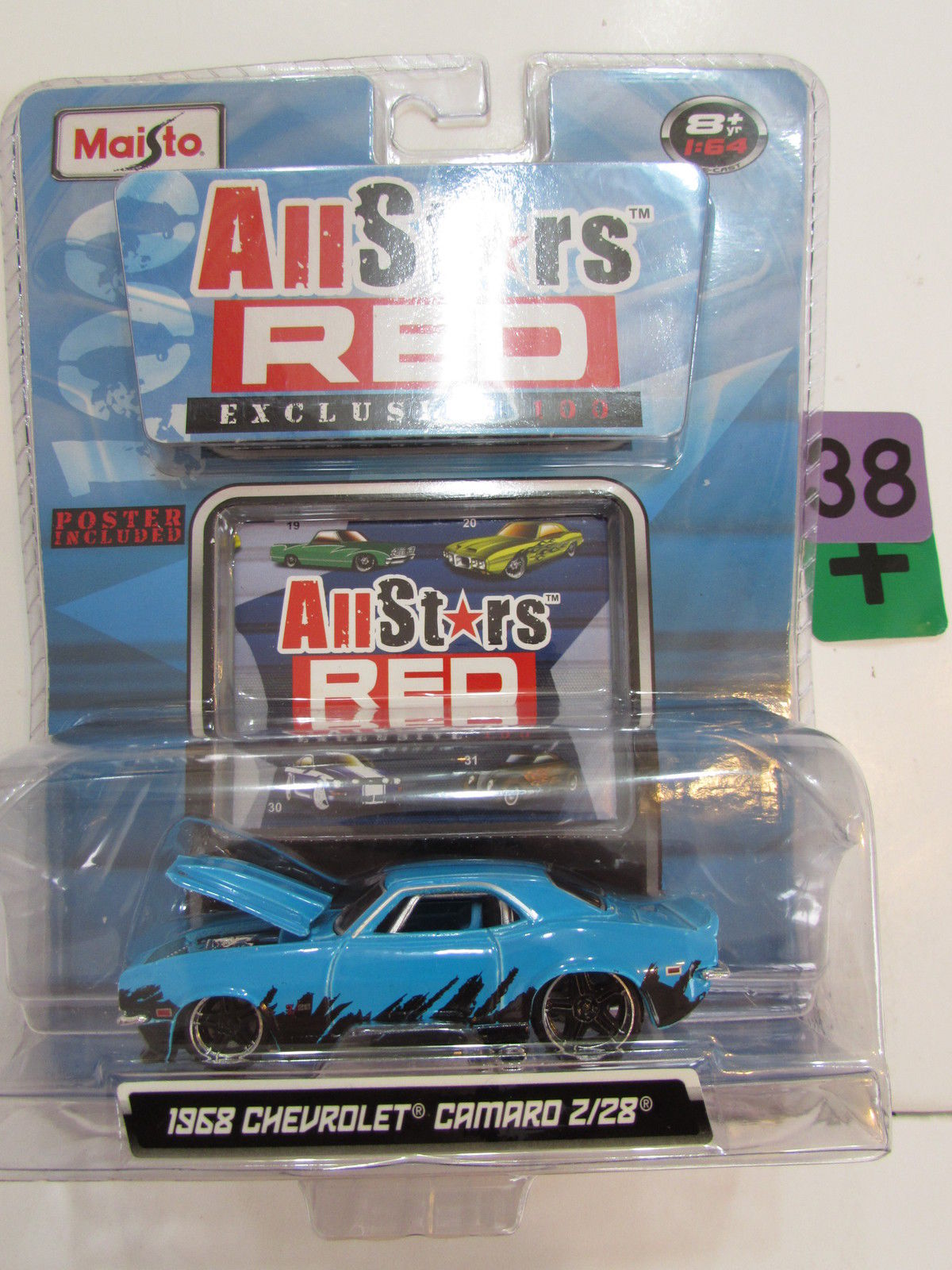 MAISTO ALL STARS RED EXCLUSIVE 100 - 1968 CHEVROLET CAMARO Z/28
