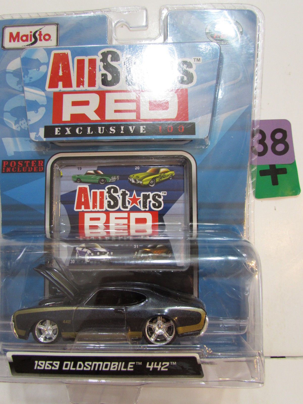 MAISTO ALL STARS RED EXCLUSIVE 100 - 1969 OLDSMOBILE 442