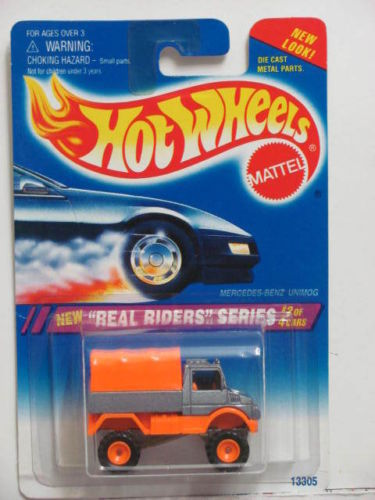 HOT WHEELS 1995 REAL RIDERS SERIES MERCEDES-BENZ UNIMOG #318