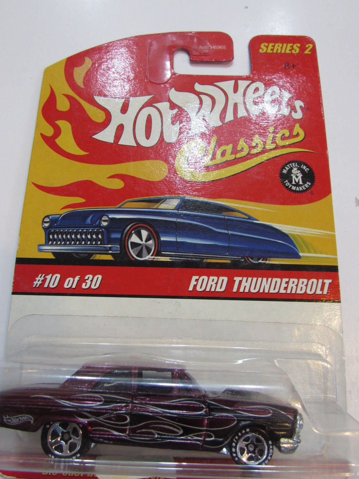 HOT WHEELS CLASSICS SERIES 2 #10/30 FORD THUNDERBOLT PURPLE