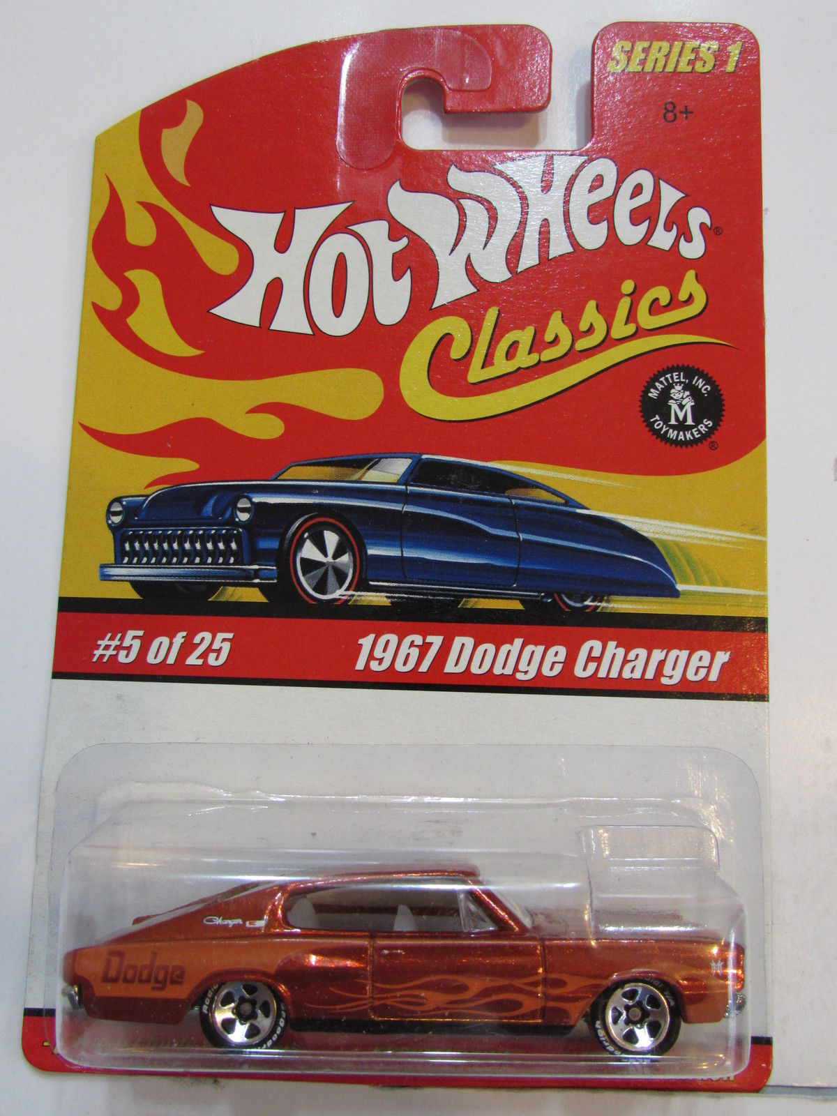 HOT WHEELS CLASSICS SERIES 1 #5/25 1967 DODGE CHARGER ORANGE