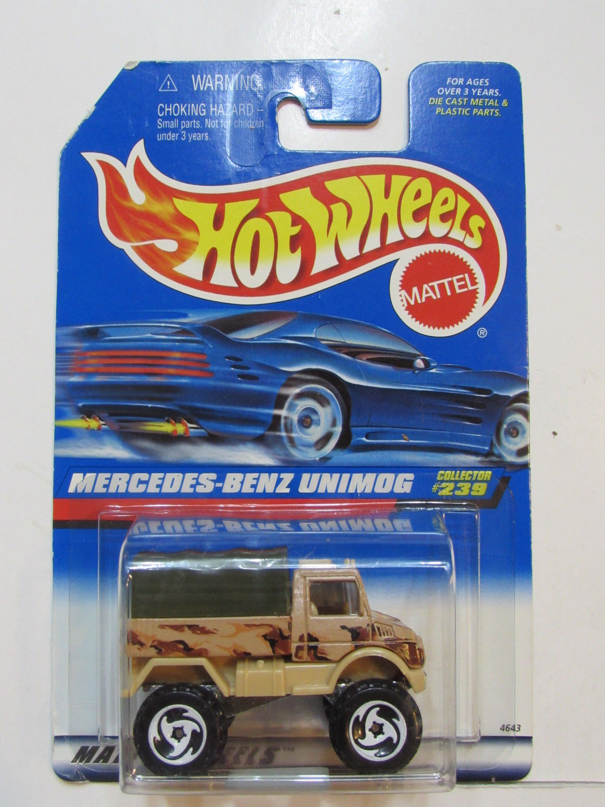 HOT WHEELS 1998 MERCEDES - BENZ UNIMOG SAWBLADE WHEELS
