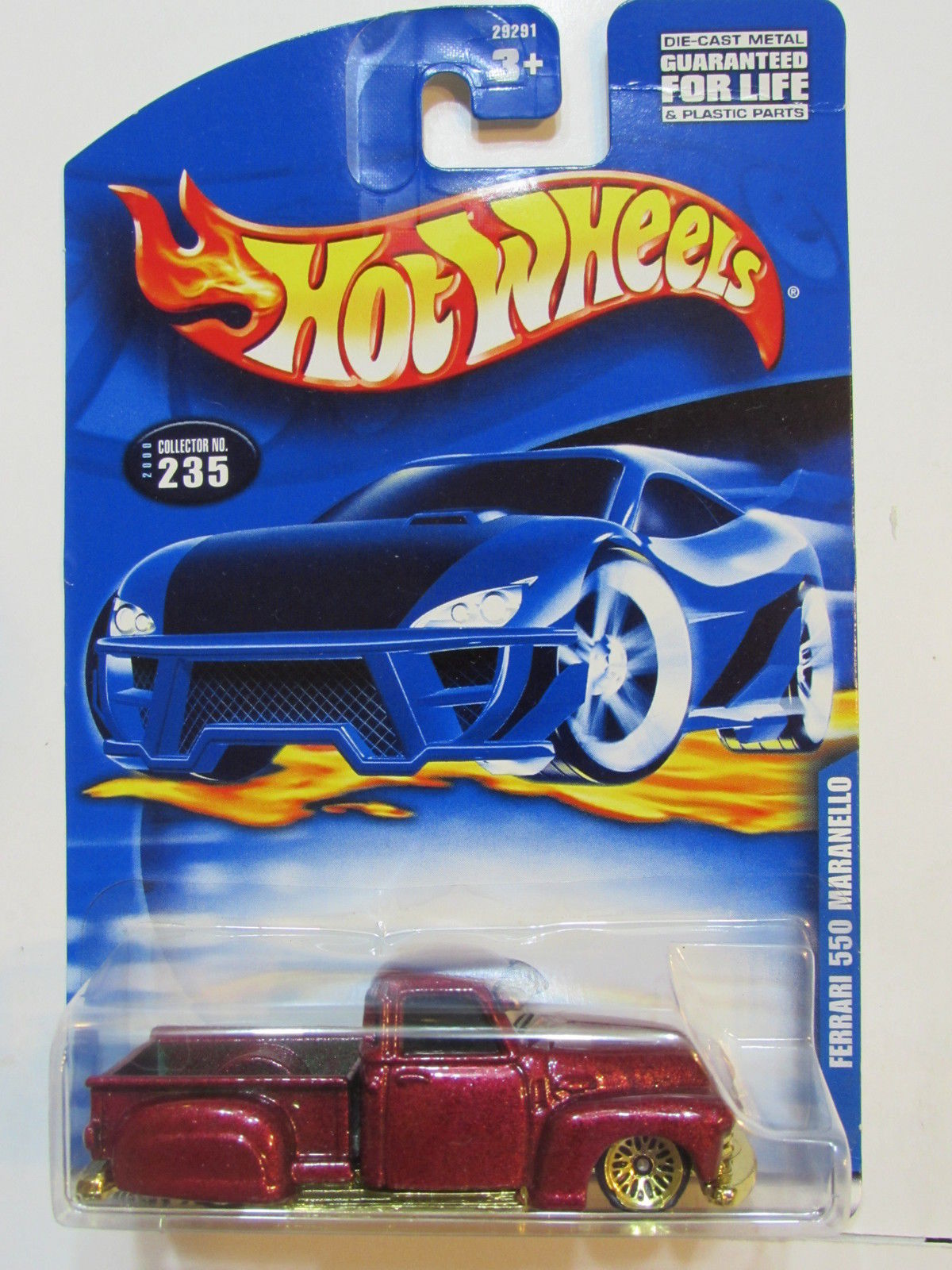 HOT WHEELS 2000 LA TROCA ON FERRARI 550 MARANELLO CARD ERROR