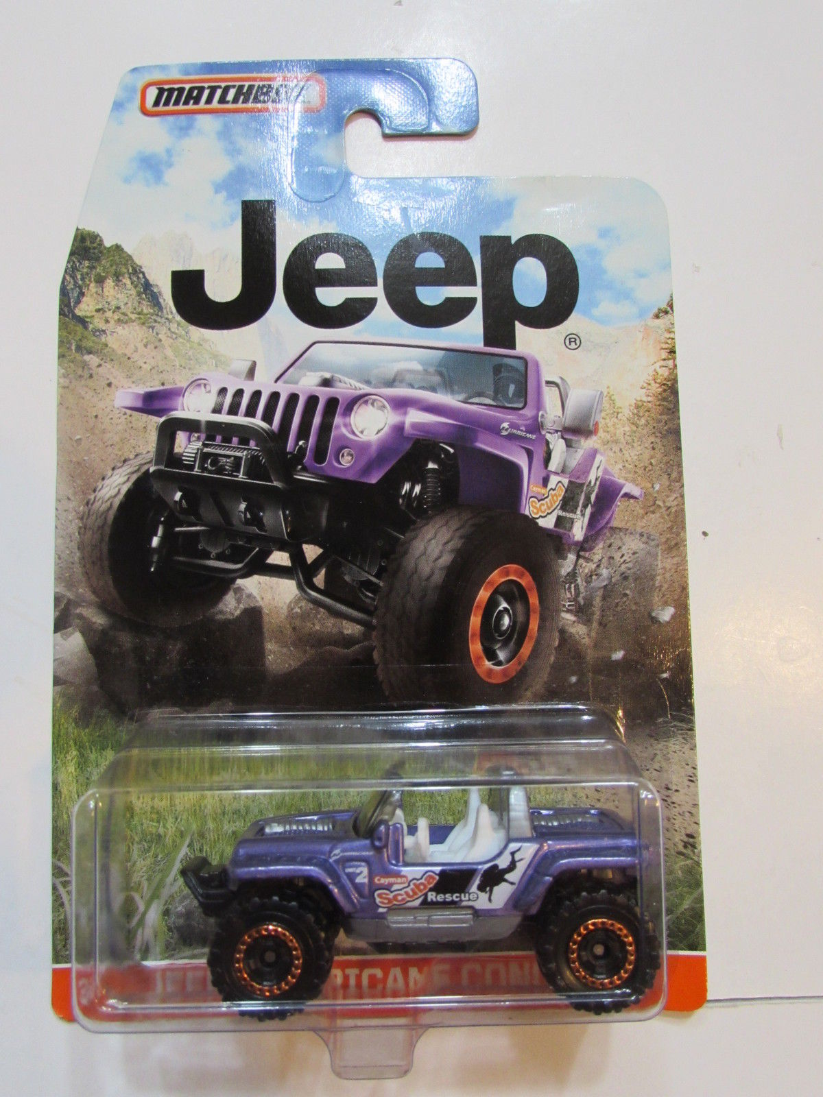 MATCHBOX 2015 JEEP HURRICANE CONCEPT PURPLE