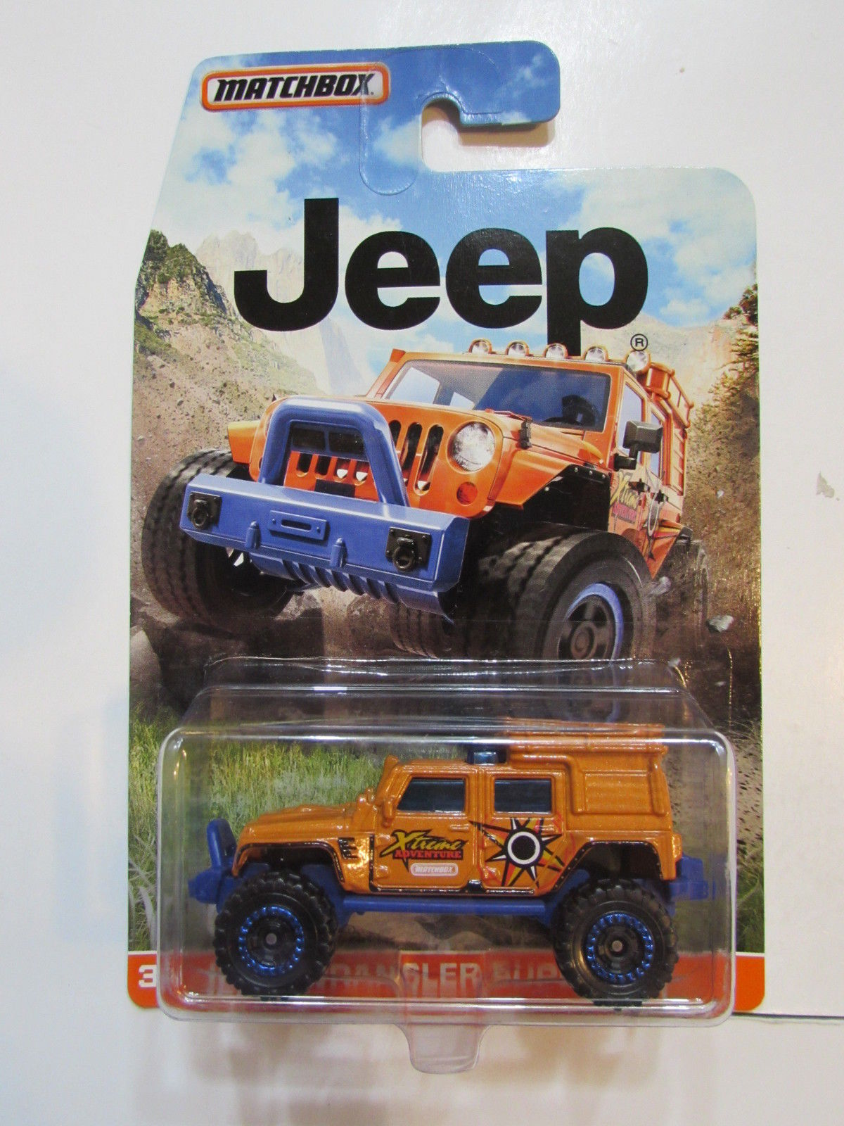 MATCHBOX 2015 JEEP WRANGLER SUPERLIFT ORANGE
