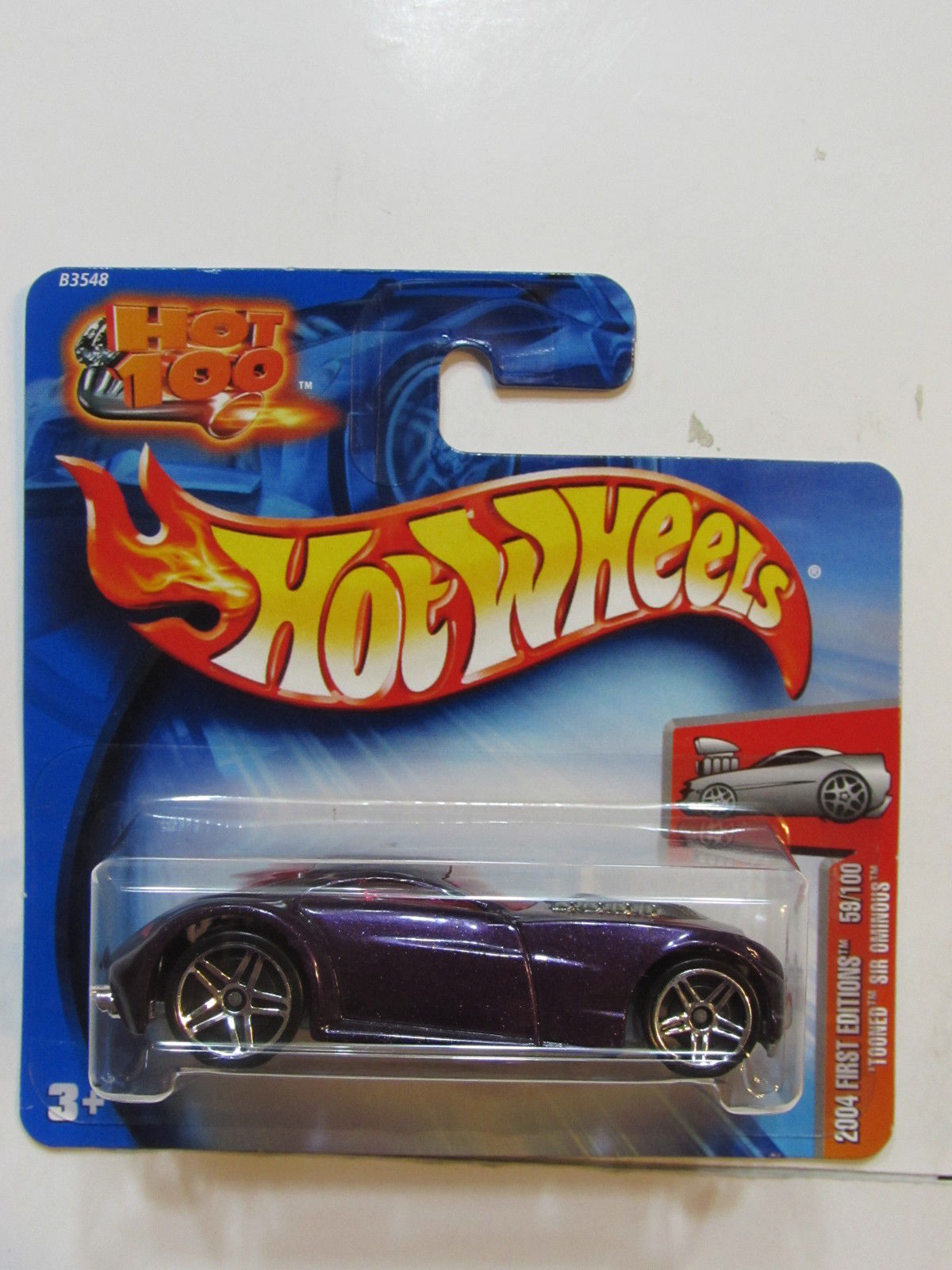 HOT WHEELS 2004 FIRST EDITIONS TOONED SIR OMINOUS SHORT CARD