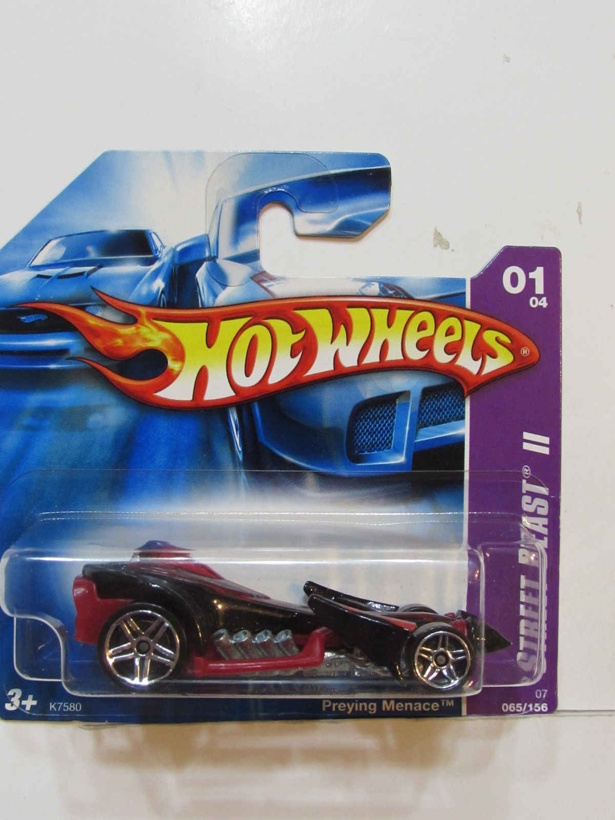 HOT WHEELS 2007 STREET BEAST II PREYING MENACE SHORT CARD