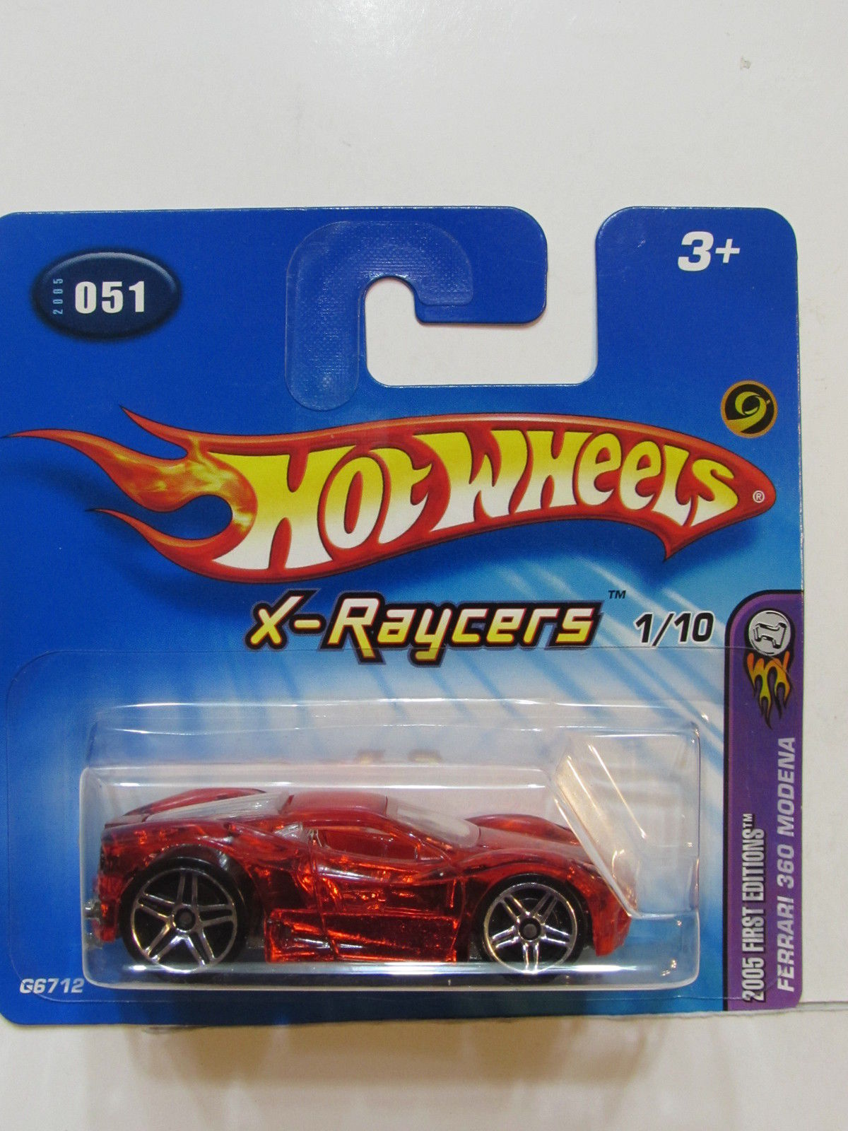HOT WHEELS 2005 FIRST EDITIONS X-RAYSERS FERRARI 360 MODENA SHORT CARD