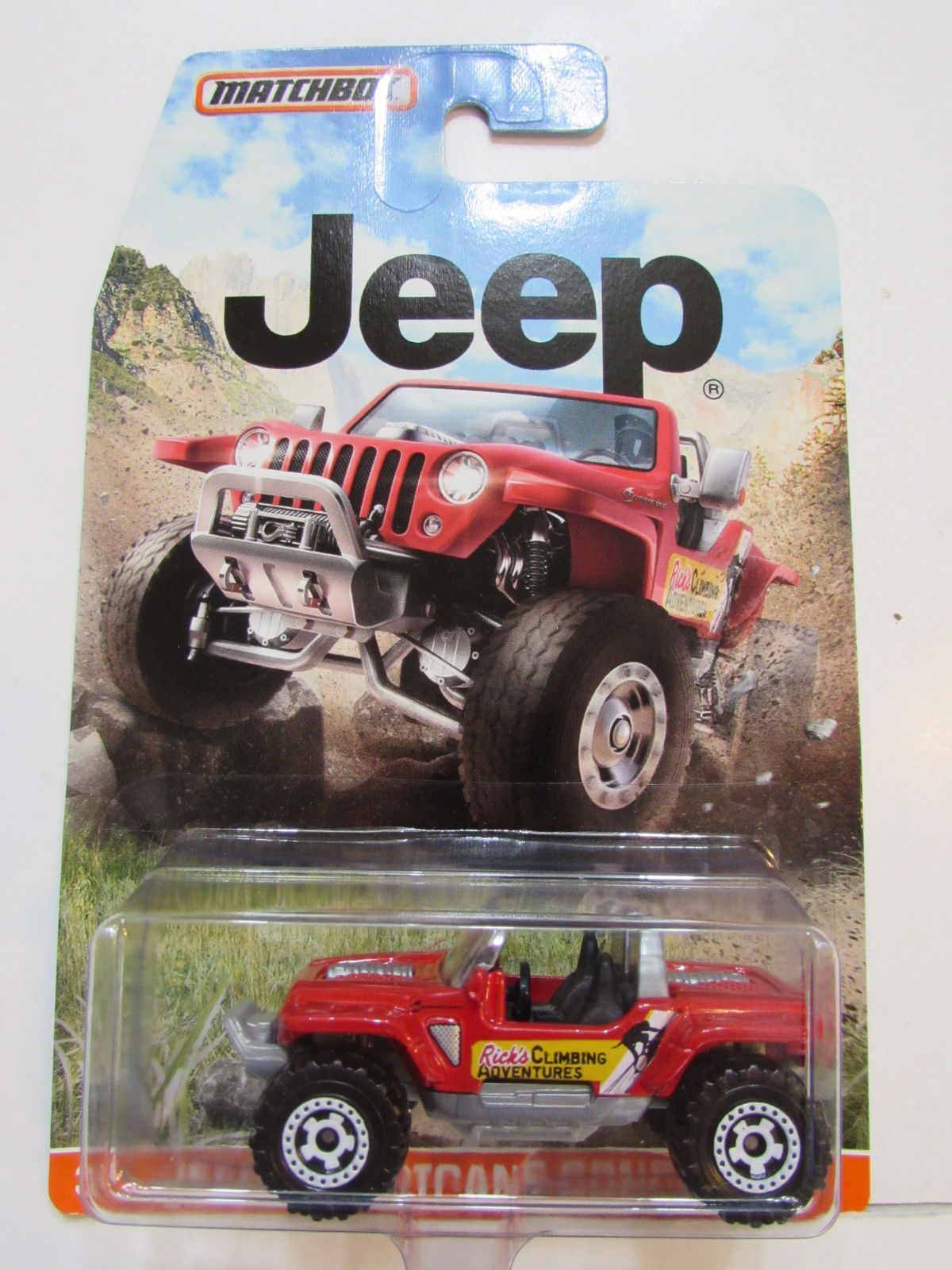MATCHBOX 2015 JEEP HURRICANE CONCEPT RED