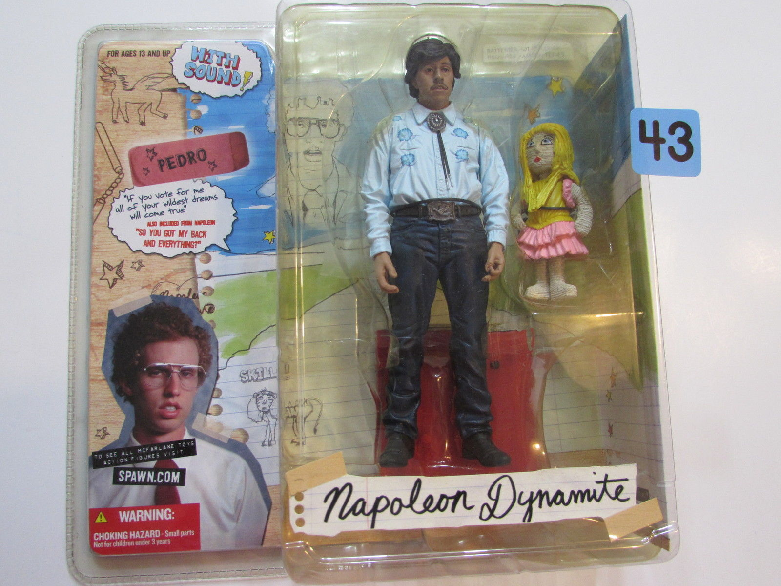 "McFARLANE TOYS NAPOLEON DYNAMITE ACTION FIGURE ""VOTE FOR PEDRO"""