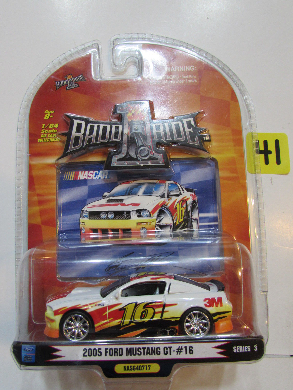 NASCAR 1 BADD RIDE 2005 FORD MUSTANG GT SERIES 3 SCALE 1:64