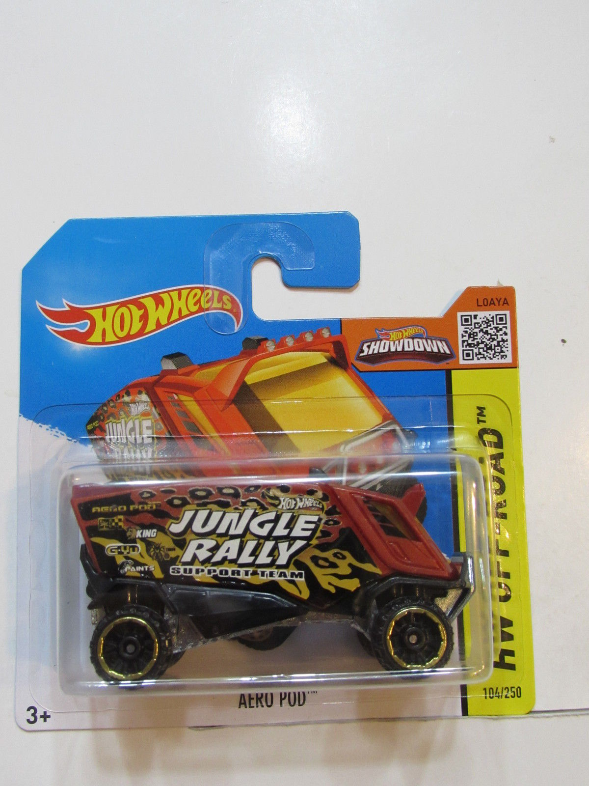 HOT WHEELS 2015 HW OFF-ROAD AERO POD SHORT CARD