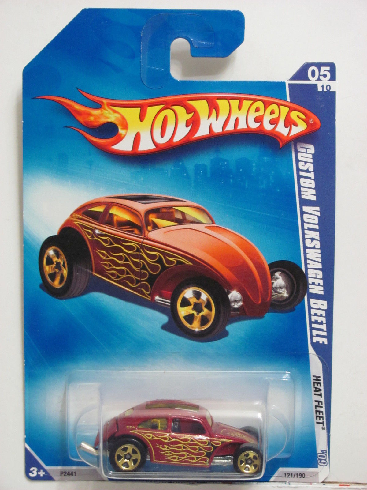 HOT WHEELS 2009 HEAT FLEET #05/10 CUSTOM VOLKSWAGEN BEETLE