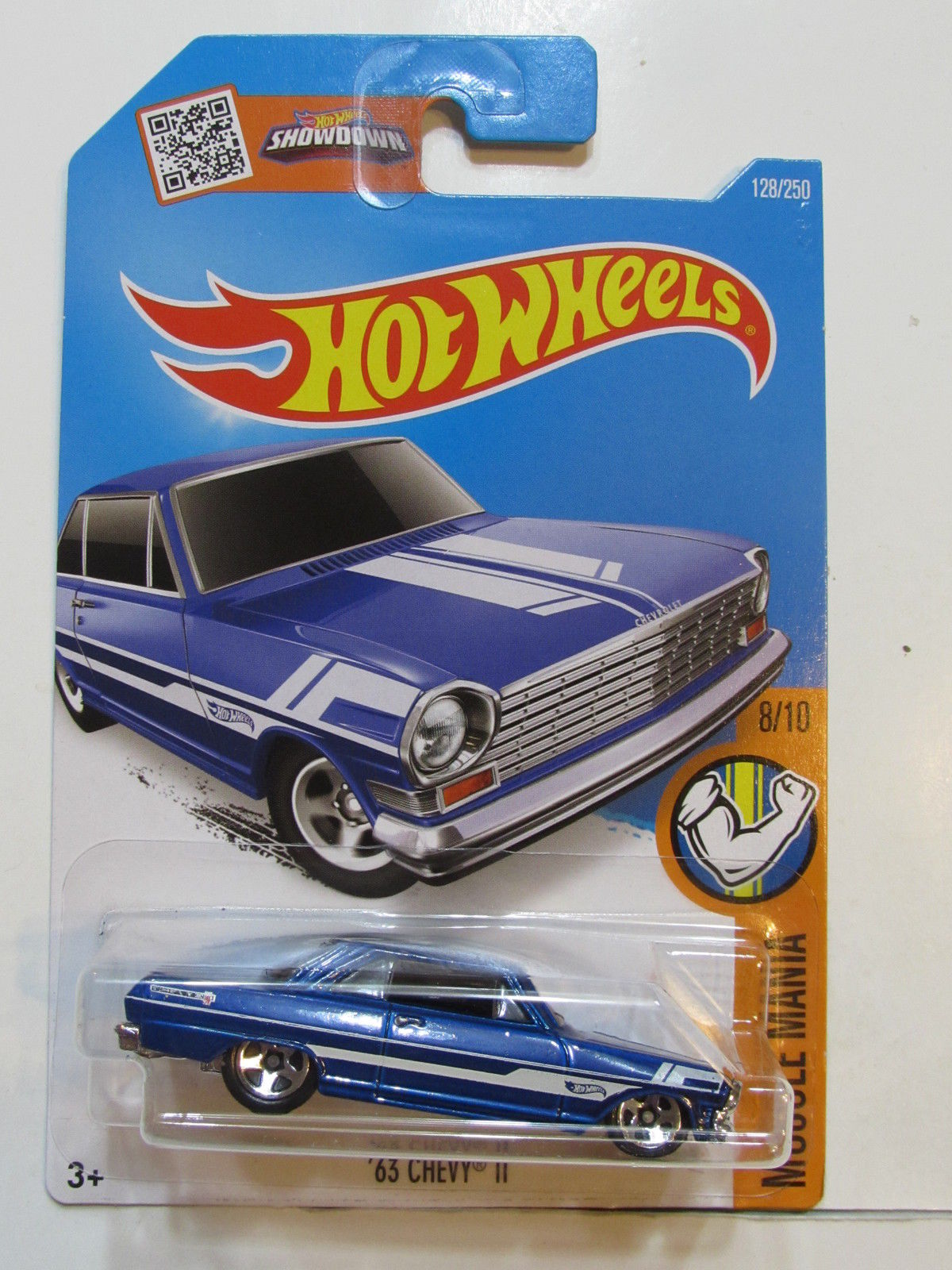 HOT WHEELS 2016 MUSCLE MANIA - '63 CHEVY 11 #8/10