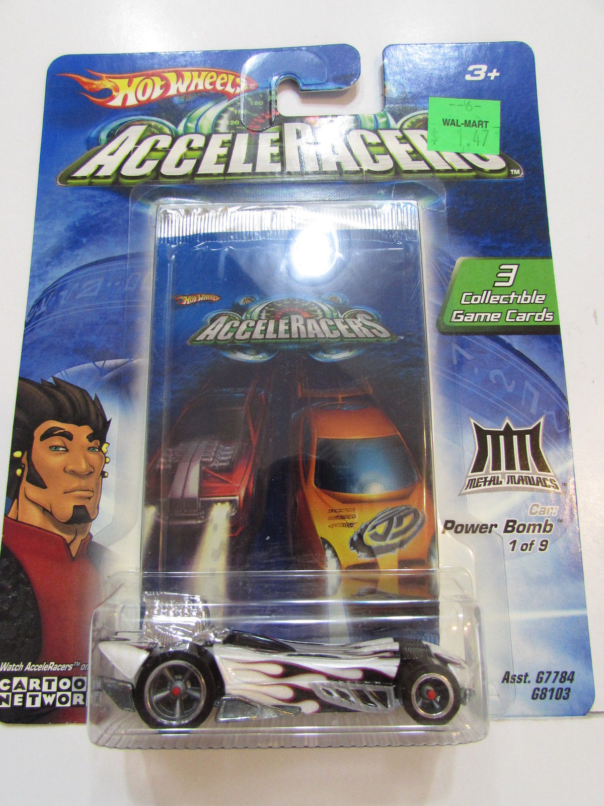 2004 HOT WHEELS ACCELERACERS POWER BOMB #1/9 3 COLLECTIBLE GAME CARDS