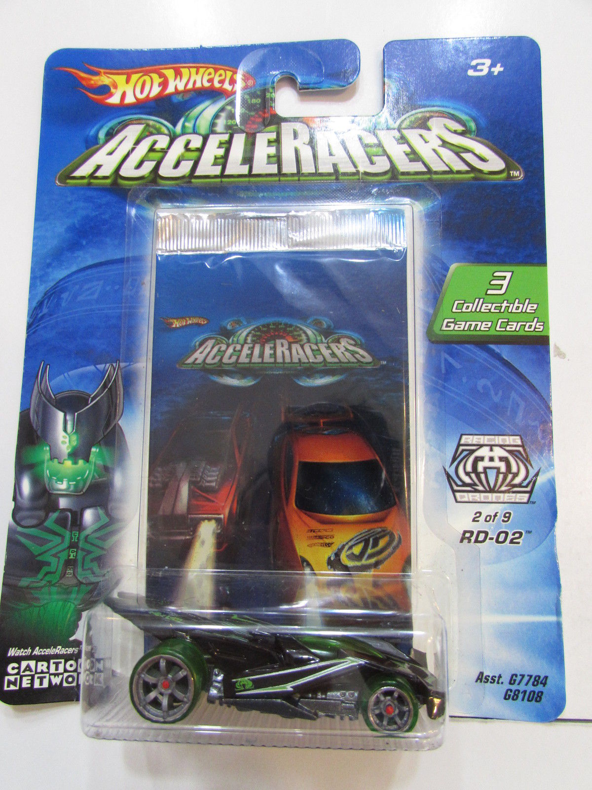 2004 HOT WHEELS ACCELERACERS RD - 02 #2/9 3 COLLECTIBLE GAME CARDS