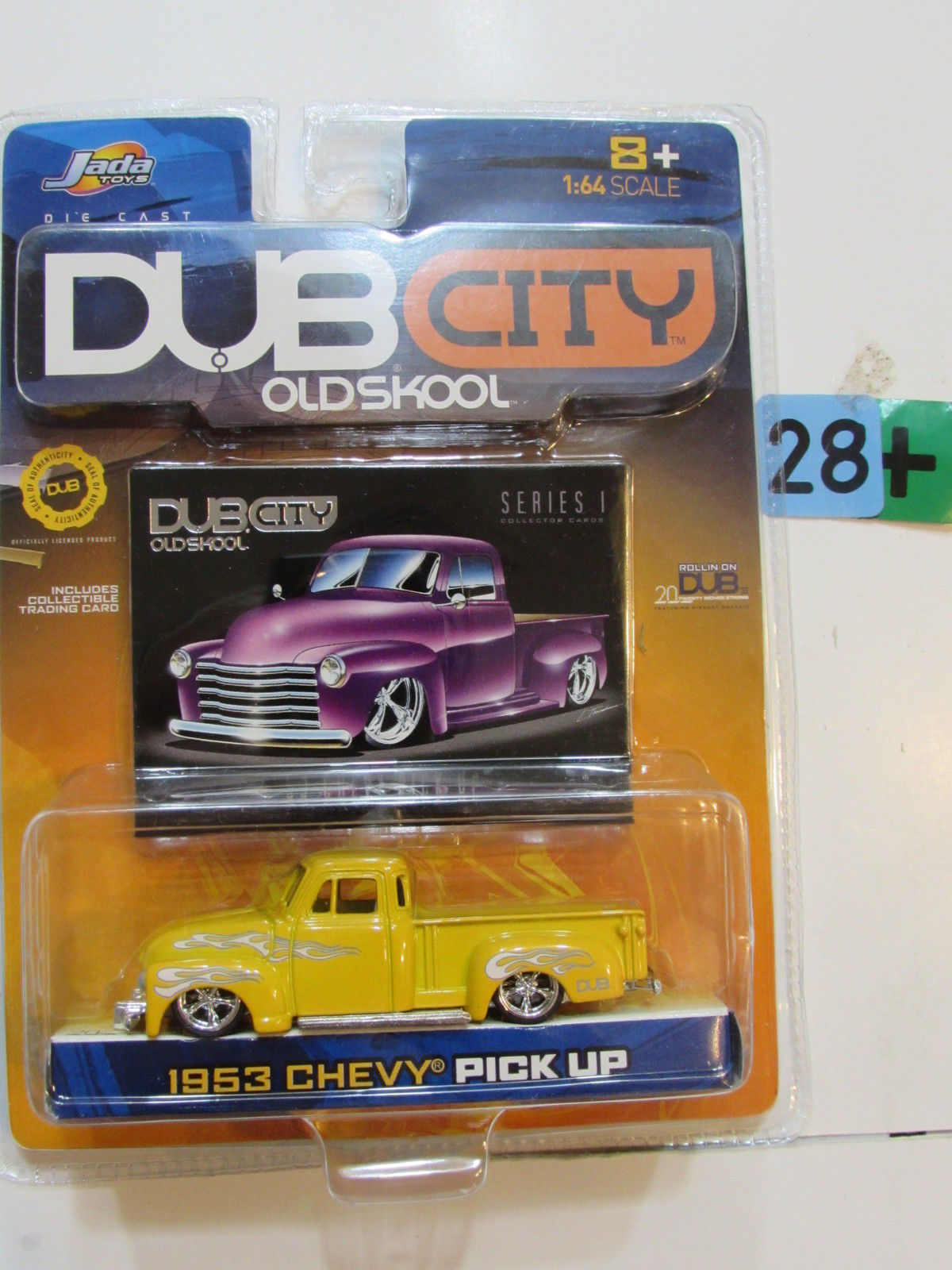 JADA DUB CITY OLD SKOOL - 1953 CHEVY PICK UP YELLOW SERIES 1