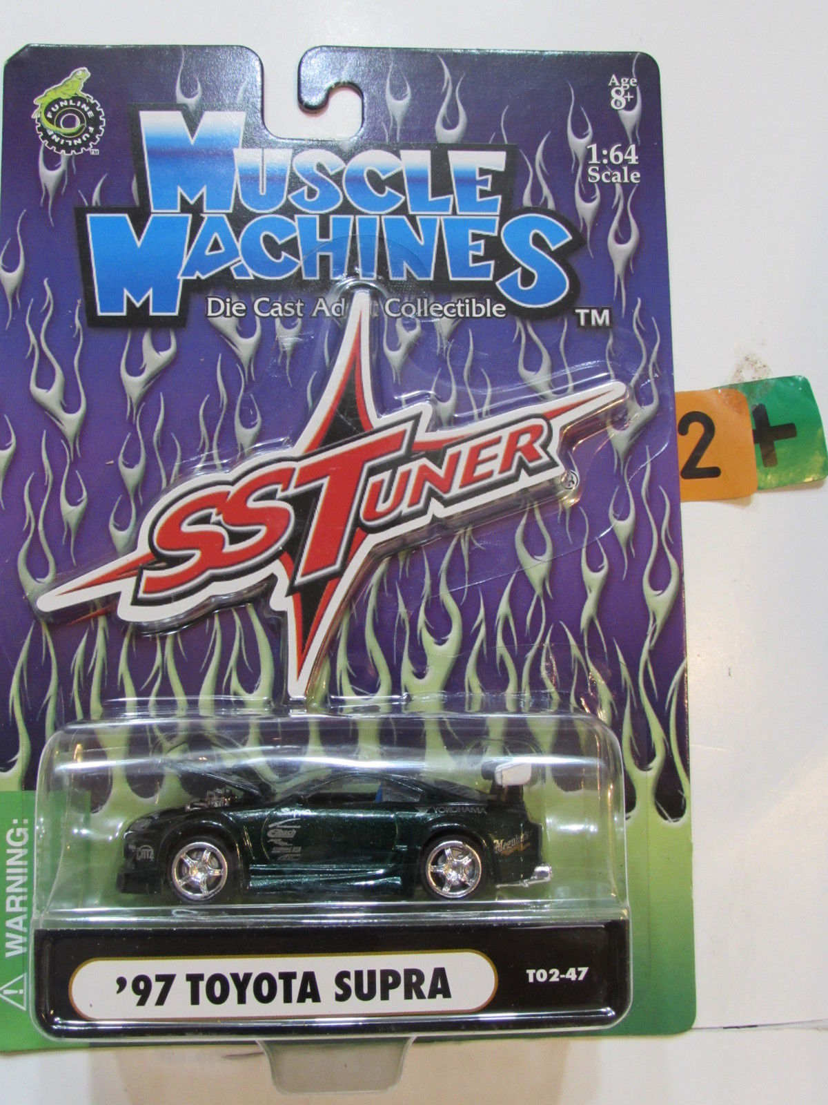 MUSCLE MACHINES IMPORT TUNER - '97 TOYOTA SUPRA GREEN 1:64 SCALE