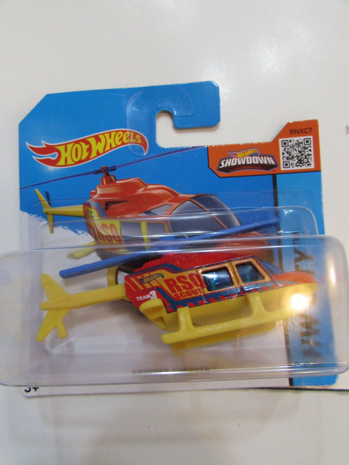 HOT WHEELS 2015 HW CITY - PROPPER CHOPPER RED SHORT CARD