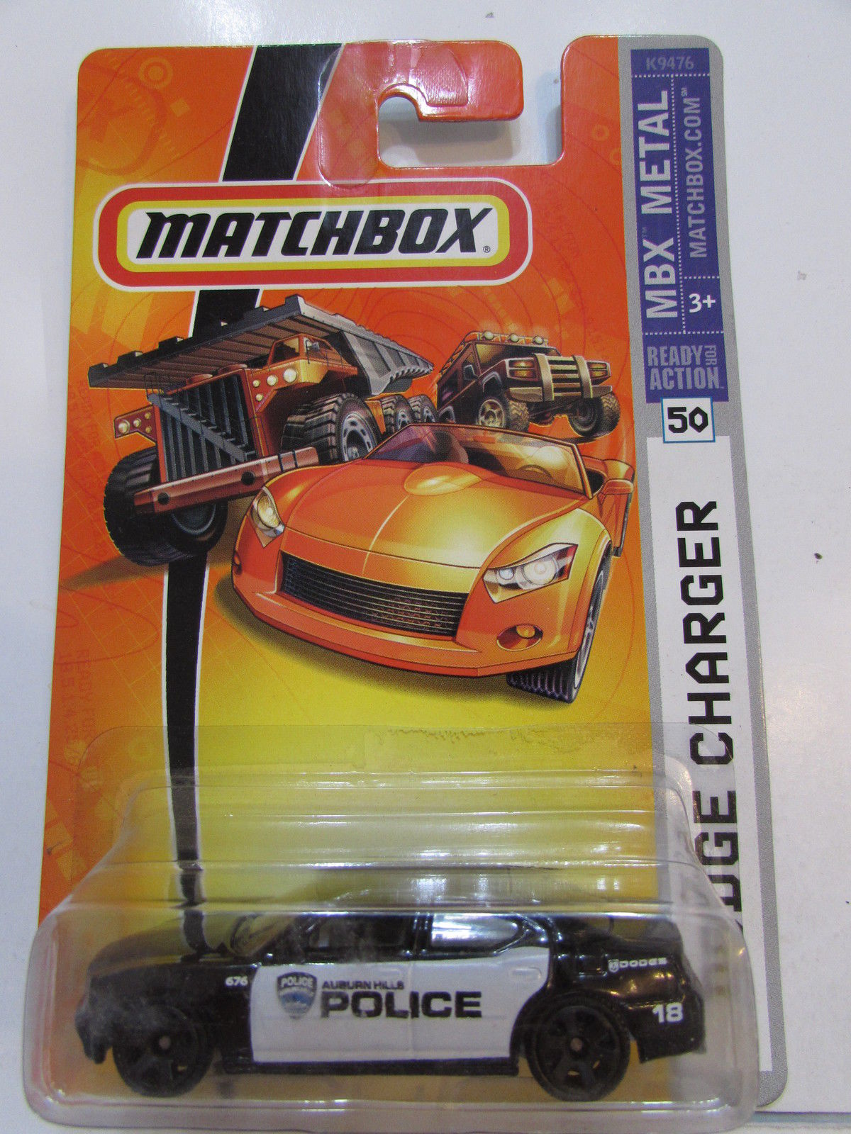 MATCHBOX MBX METAL DODGE CHARGER #50 POLICE CAR