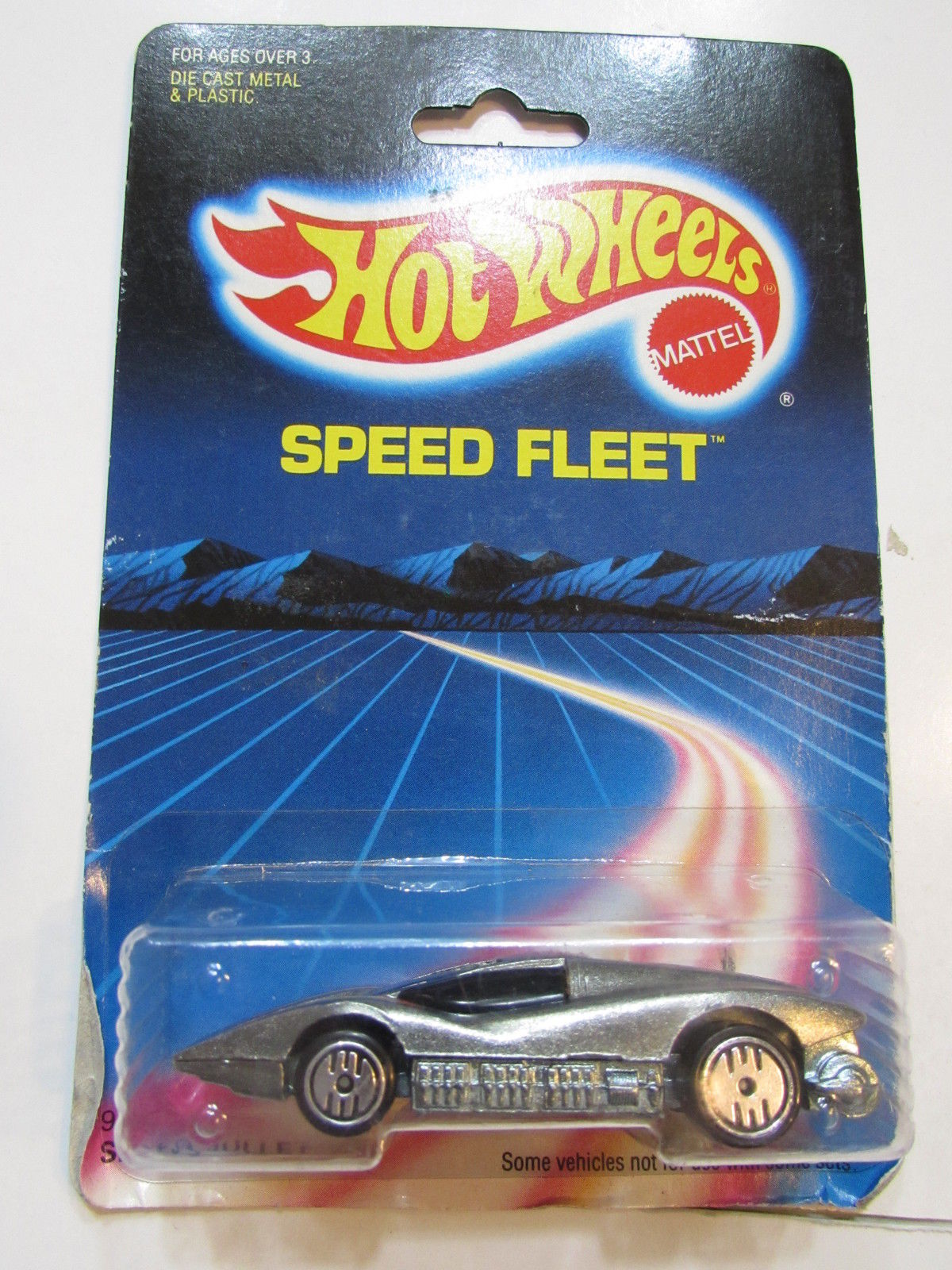 HOT WHEELS 1988 SPEED FLEET SILVER BULLET W/ UH WHEELS
