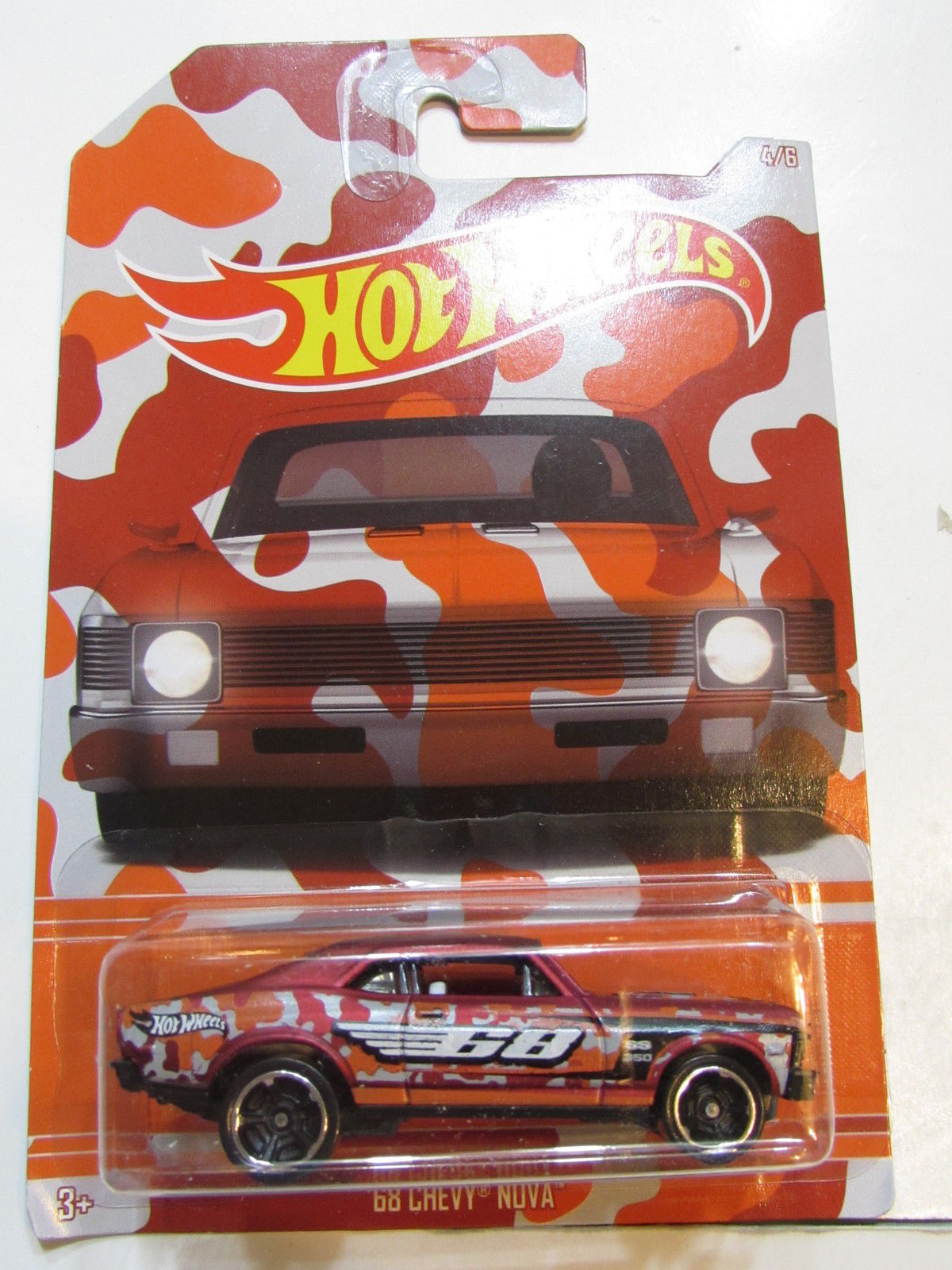 HOT WHEELS CAMOUFLAGE WALMART EXCLUSIVE '68 CHEVY NOVA #4/6