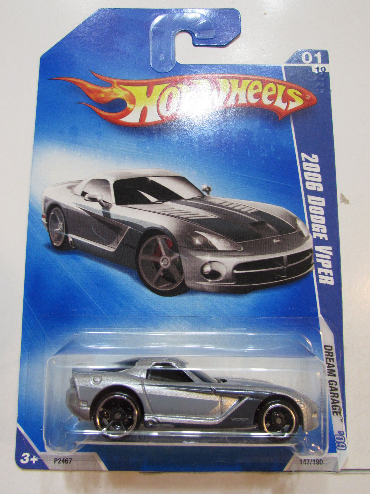 HOT WHEELS 2009 DREAM GARAGE 2006 DODGE VIPER SILVER