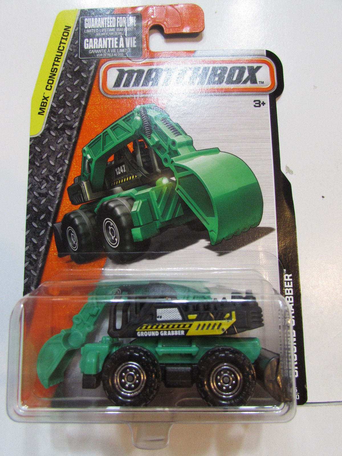 MATCHBOX 2015 MBX CONSTRUCTION GROUND GRABBER GREEN