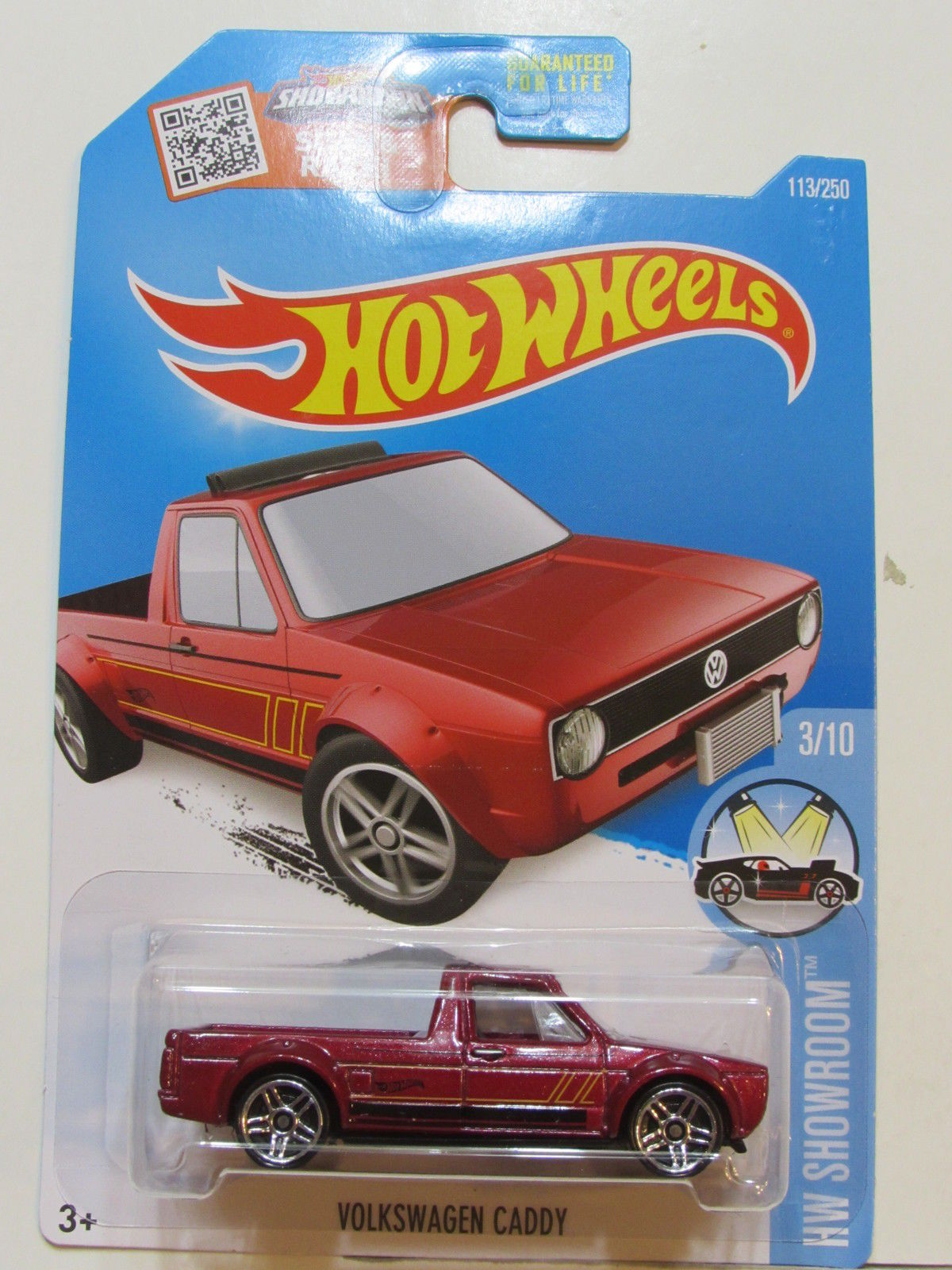 HOT WHEELS 2016 HW SHOWROOM #3/10 VOLKSWAGEN CADDY RED