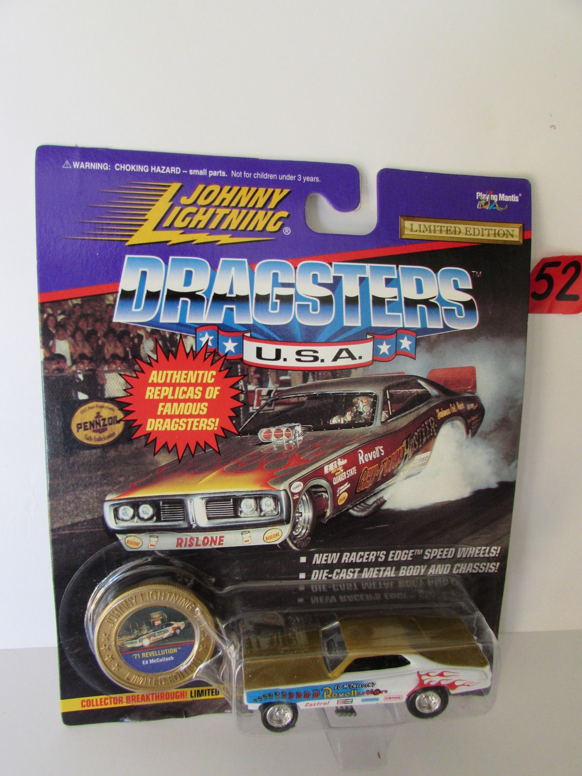 JOHNNY LIGHTNING DRAGSTERS U.S.A '71 REVELLUTION ED MCCULLOCH SERIES N0 - 2
