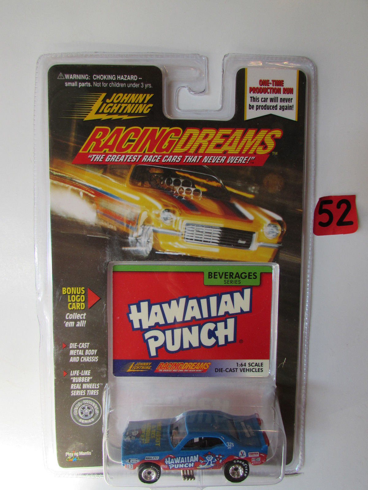 JOHNNY LIGHTNING RACINGDREAMS HAWAIIAN PUNCH BEVERAGES DIE-CAST VEHICLES E+
