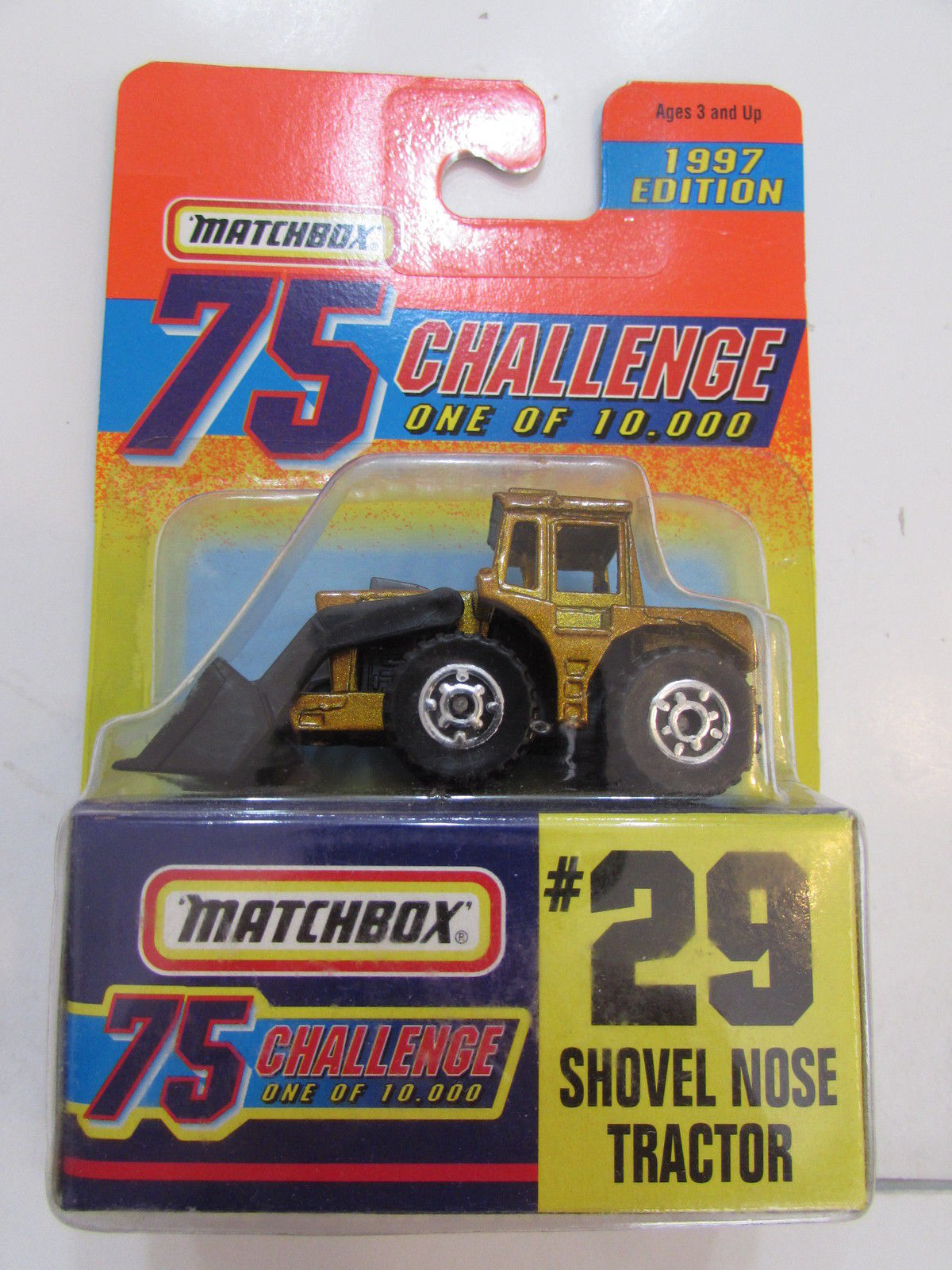 MATCHBOX CHALLENGE 75 1997 EDITION #29 SHOVEL NOSE TRACTOR