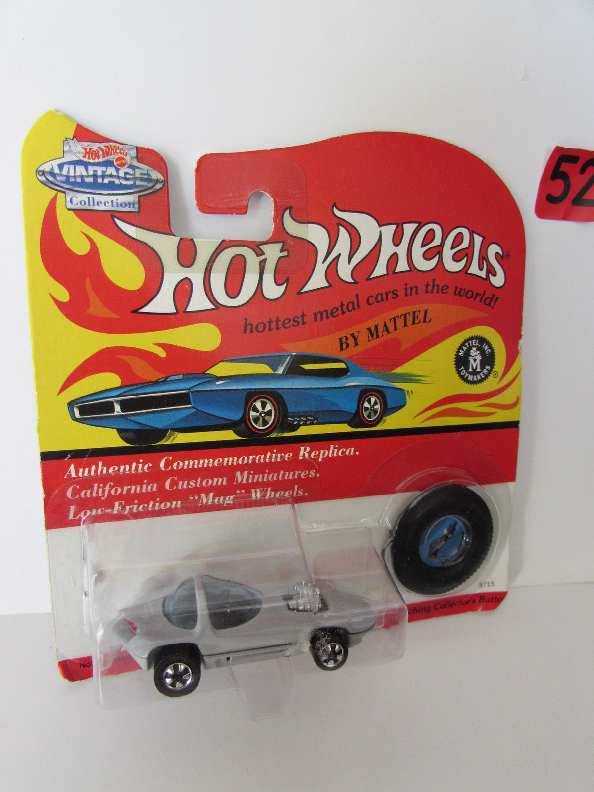 HOT WHEELS 1993 VINTAGE COLLECTION SILHOUETTE W/ BUTTON