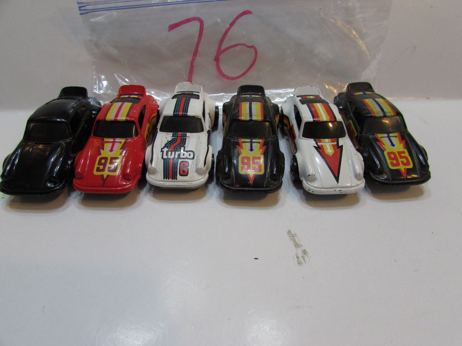 HOT WHEELS LOT OF 6 PORSCHE P 911 TURBO HOT ONES 1974 HONG KONG / MALAYSIA BASE
